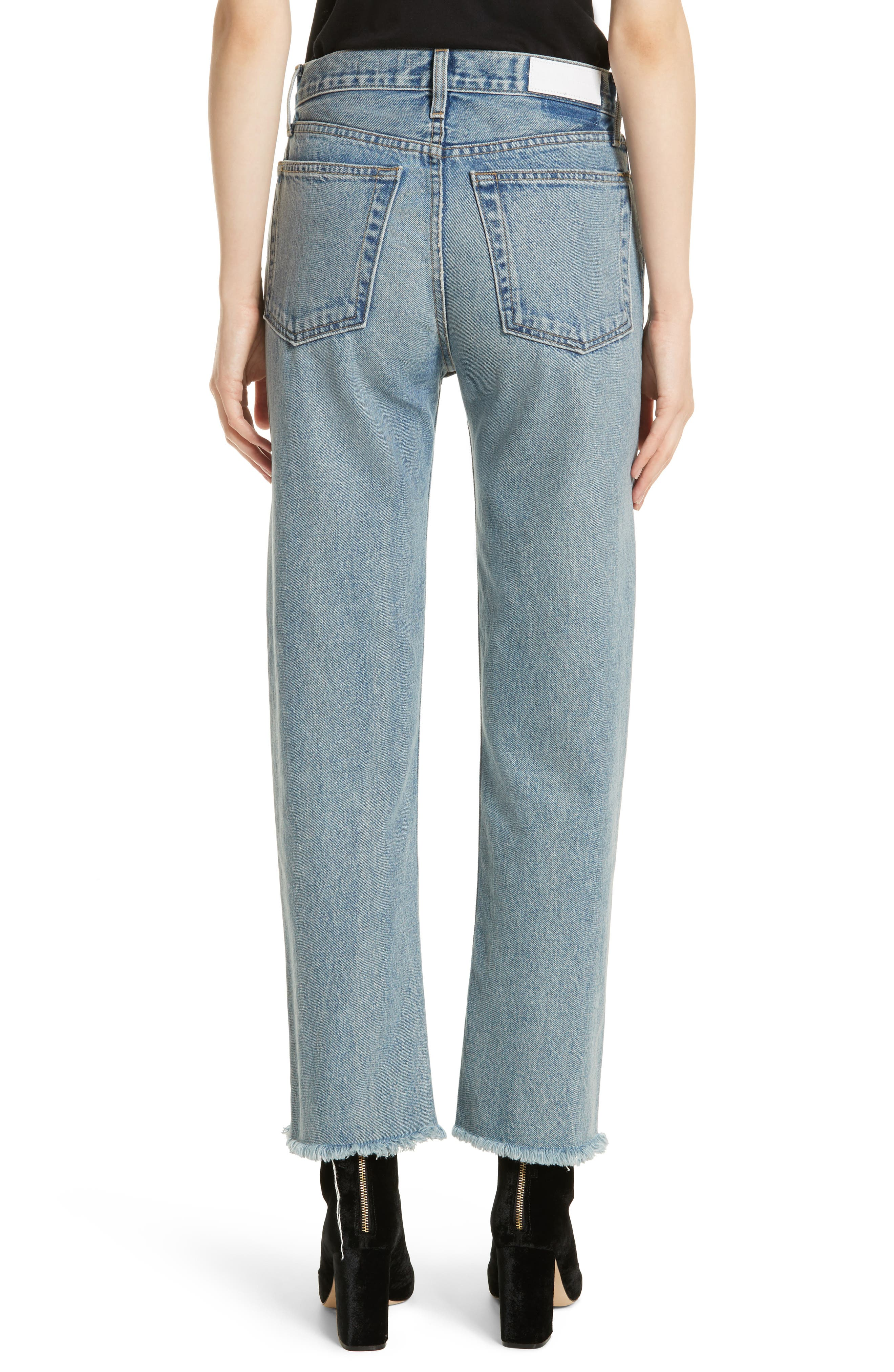 High Waist Stove Pipe Jeans,                             Alternate thumbnail 2, color,                             450