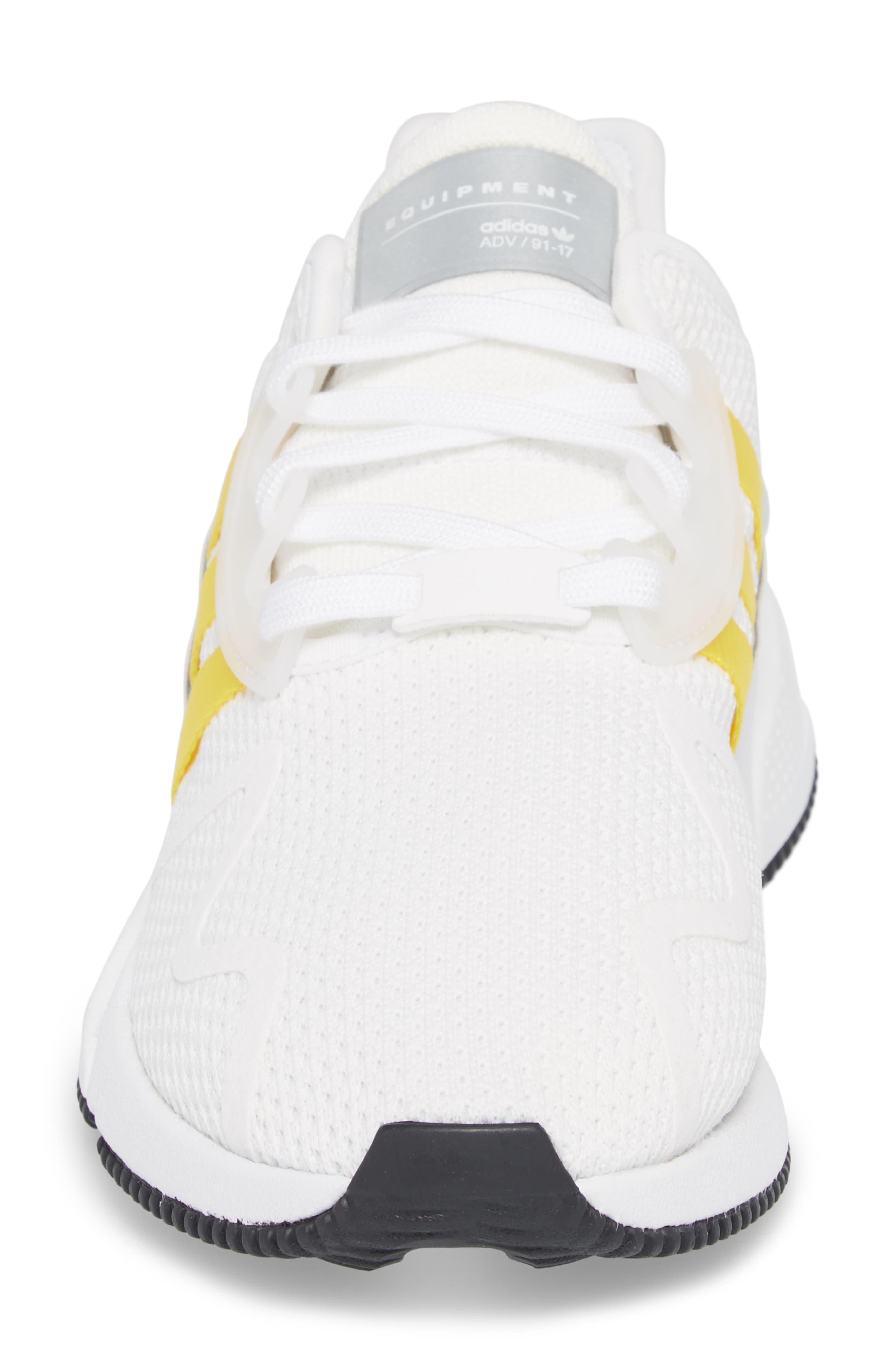 EQT Cushion ADV Sneaker,                             Alternate thumbnail 4, color,                             WHITE/ SILVER
