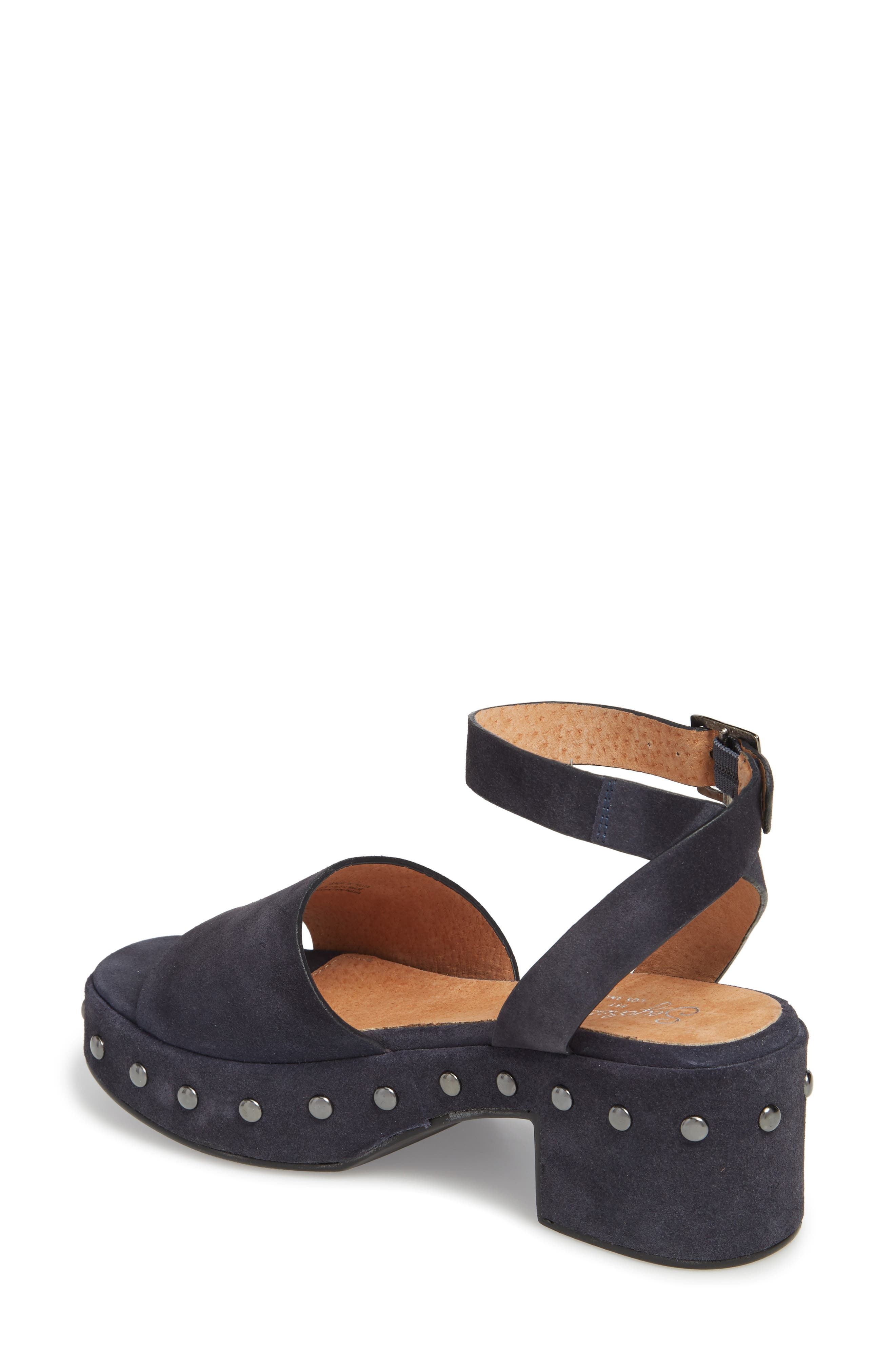 Spare Moments Sandal,                             Alternate thumbnail 2, color,                             NAVY SUEDE