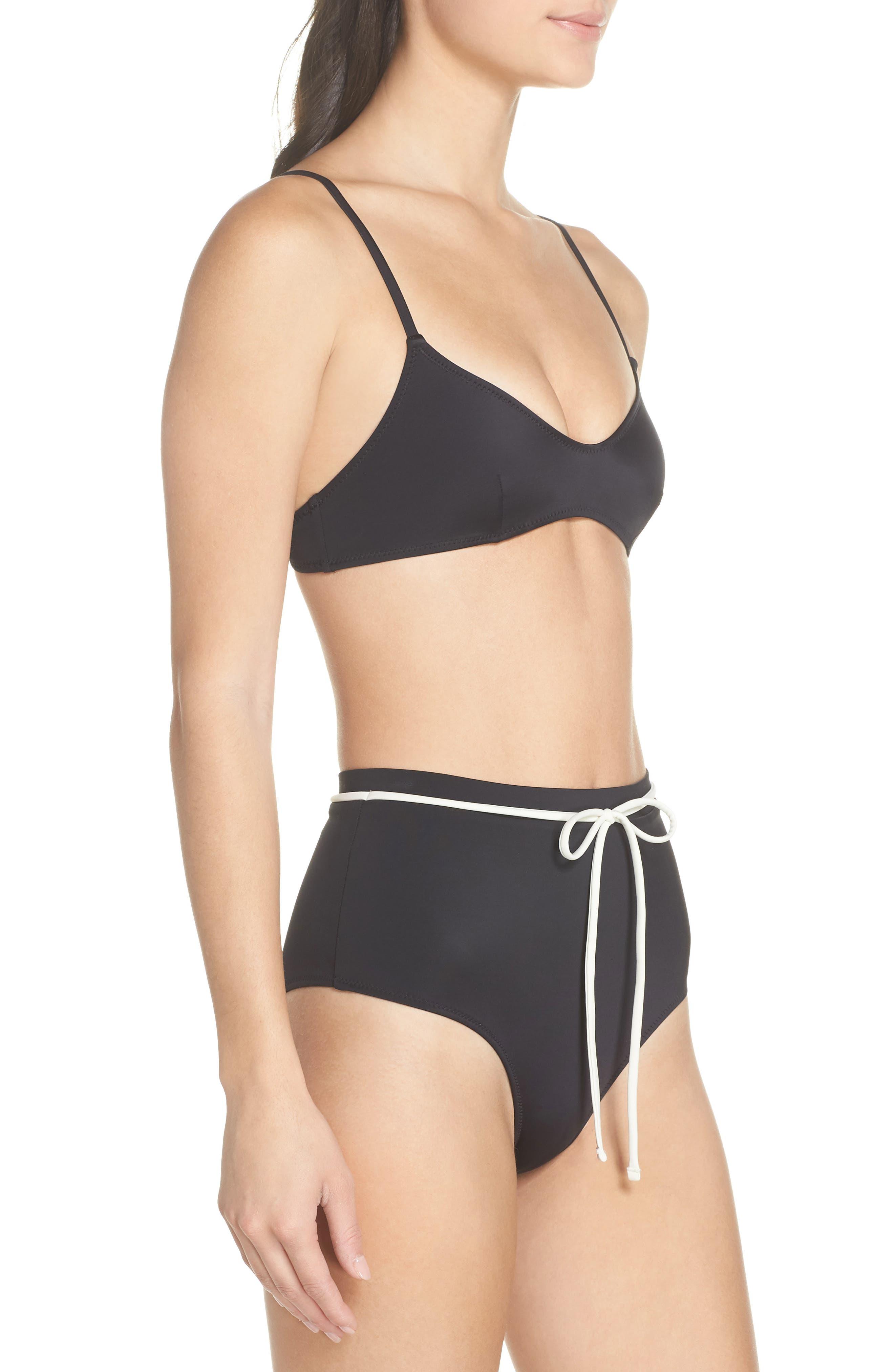 Cora Bikini Top,                             Alternate thumbnail 9, color,                             BLACK