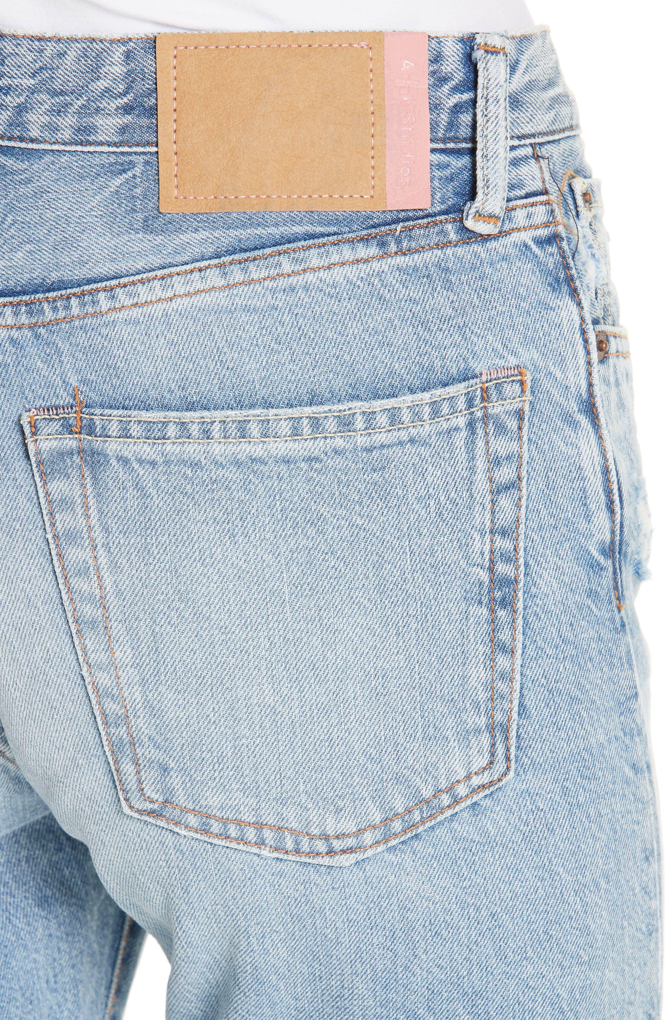 1997 Straight Leg Jeans,                             Alternate thumbnail 4, color,                             LIGHT BLUE