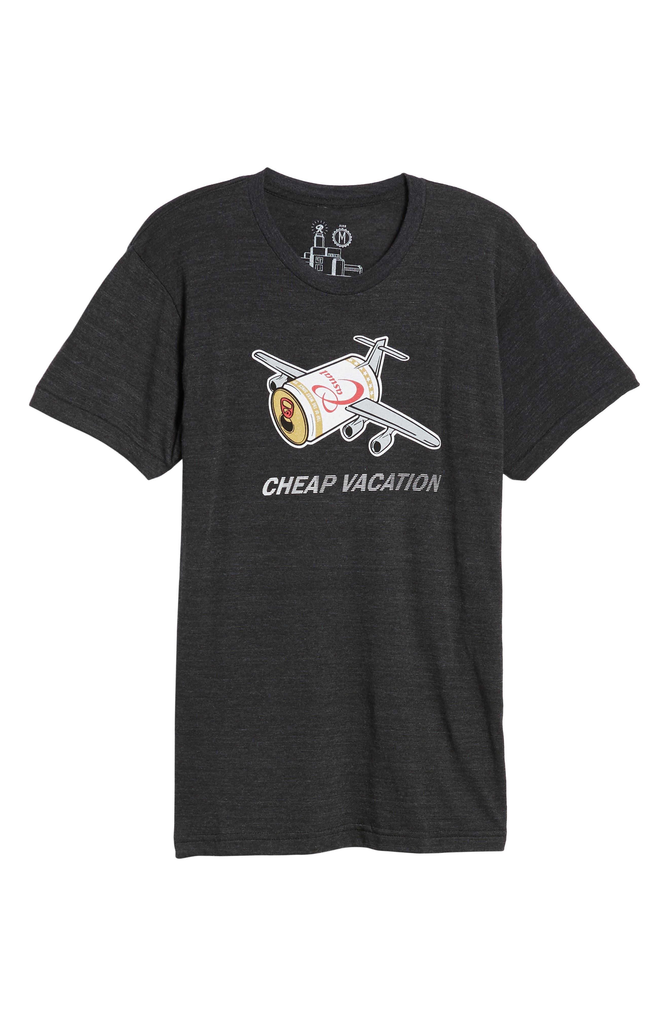 Cheap Vacation T-Shirt,                             Alternate thumbnail 6, color,                             001