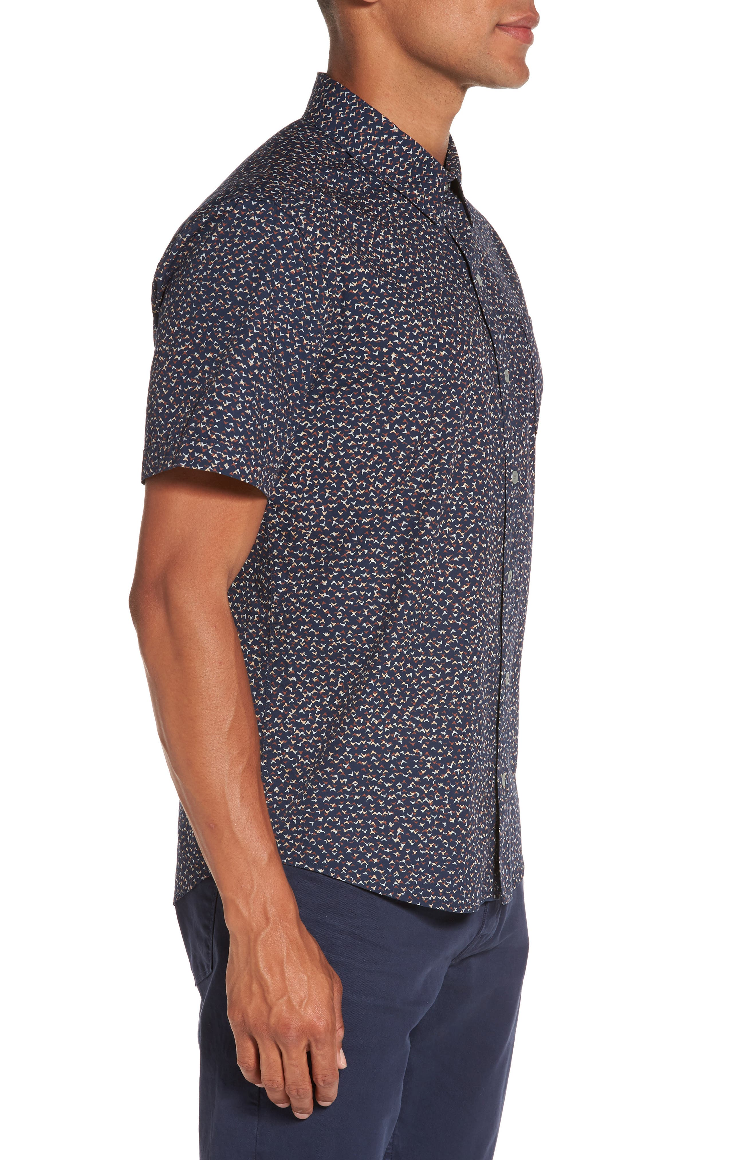 Becker Patterned Woven Shirt,                             Alternate thumbnail 3, color,                             400