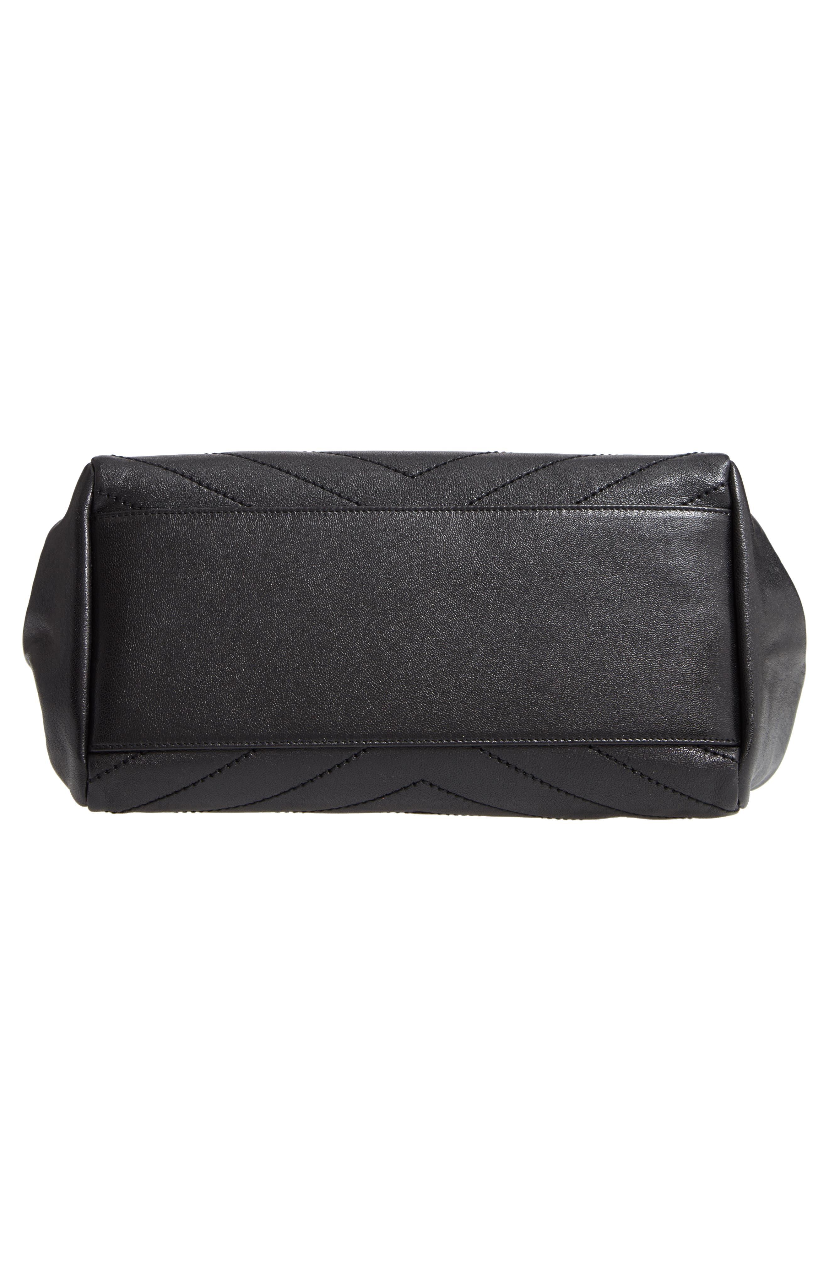 Nolita Large Leather Shoulder Bag,                             Alternate thumbnail 6, color,                             NOIR