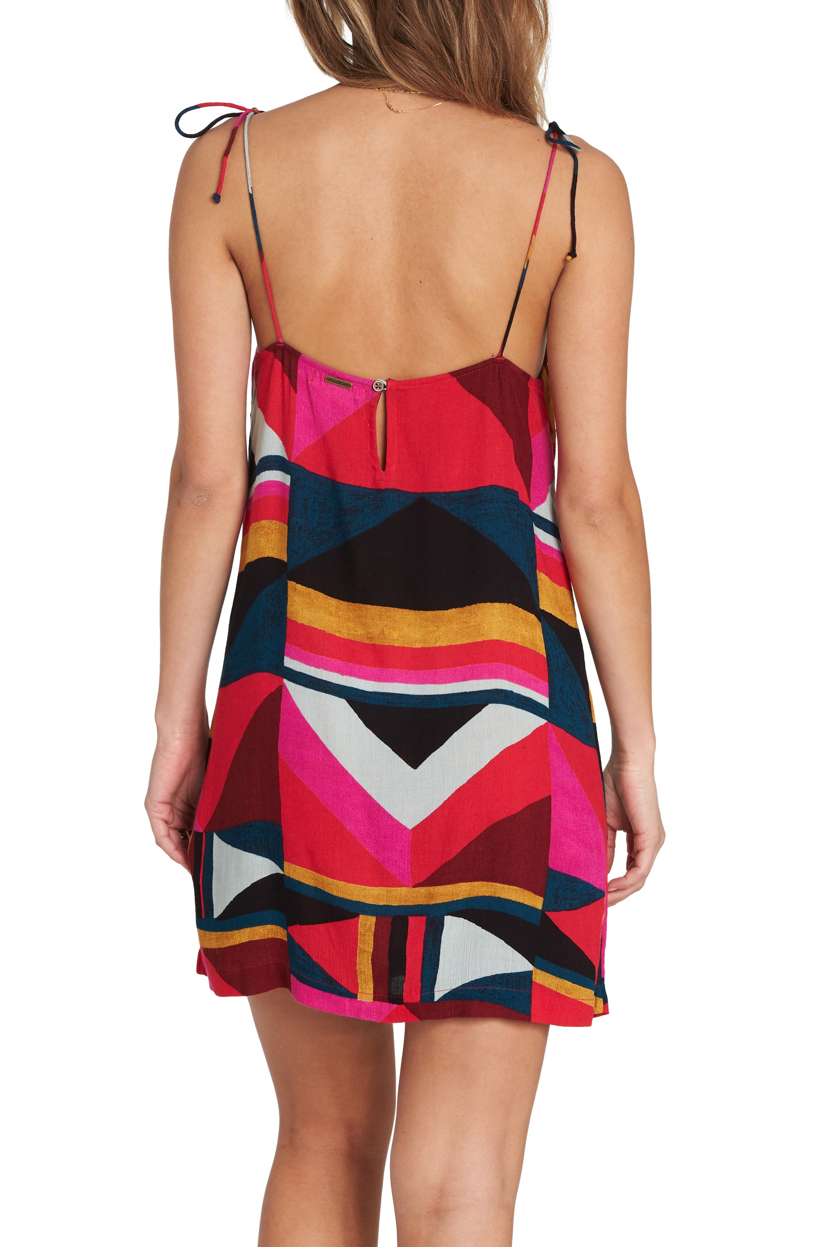 Night Out Print Camisole Dress,                             Alternate thumbnail 2, color,                             MULTI