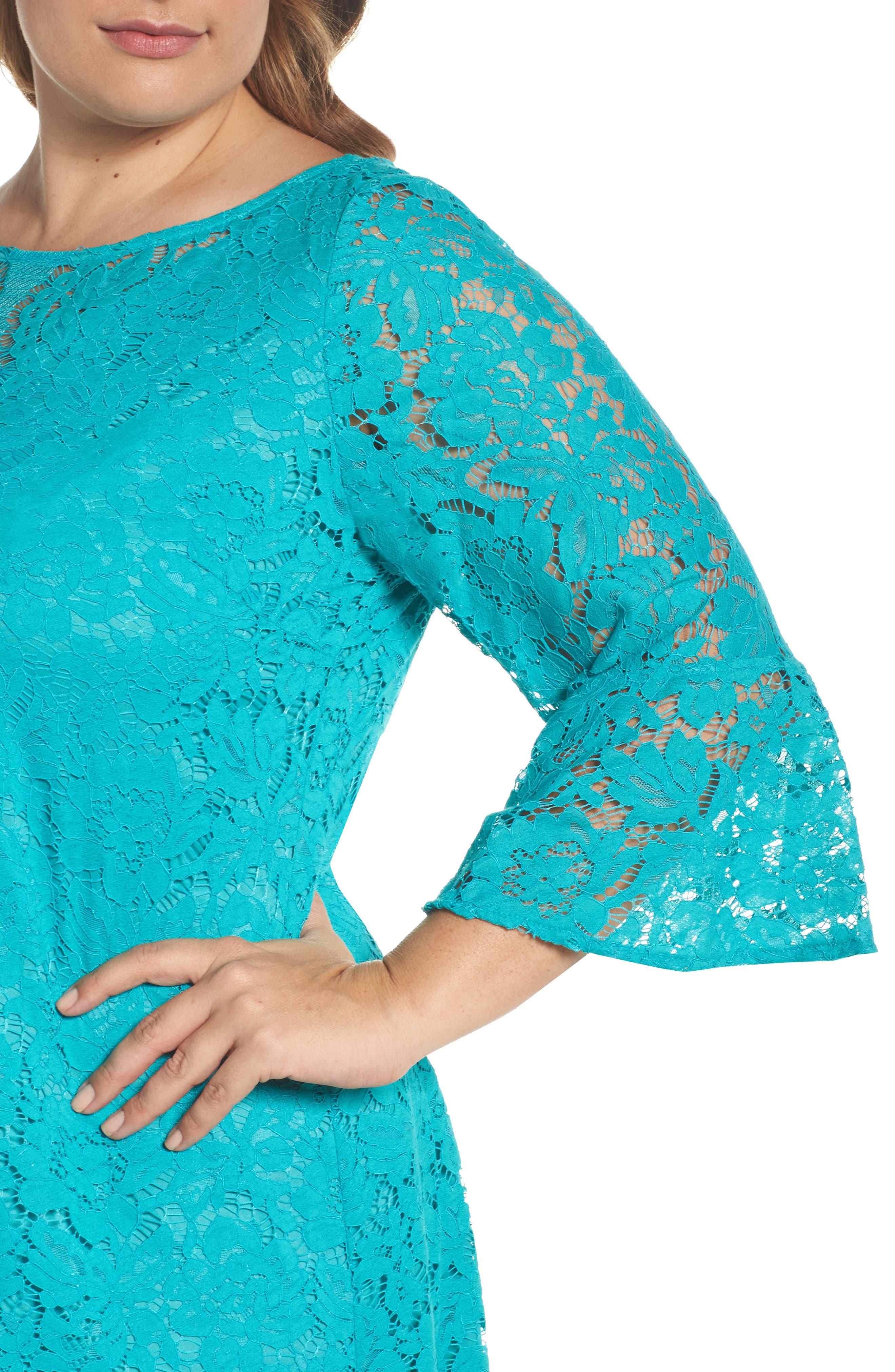Lace A-Line Dress,                             Alternate thumbnail 8, color,