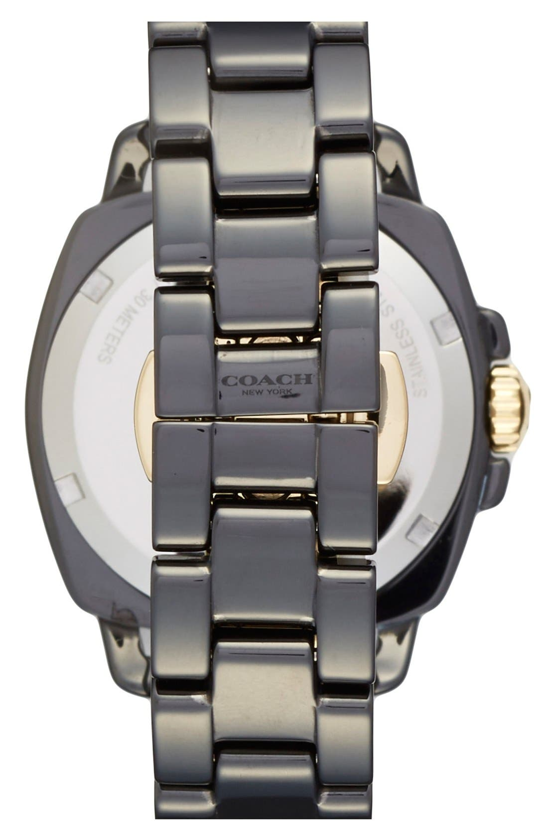 'Boyfriend' Ceramic Bracelet Watch, 34mm,                             Alternate thumbnail 3, color,                             001