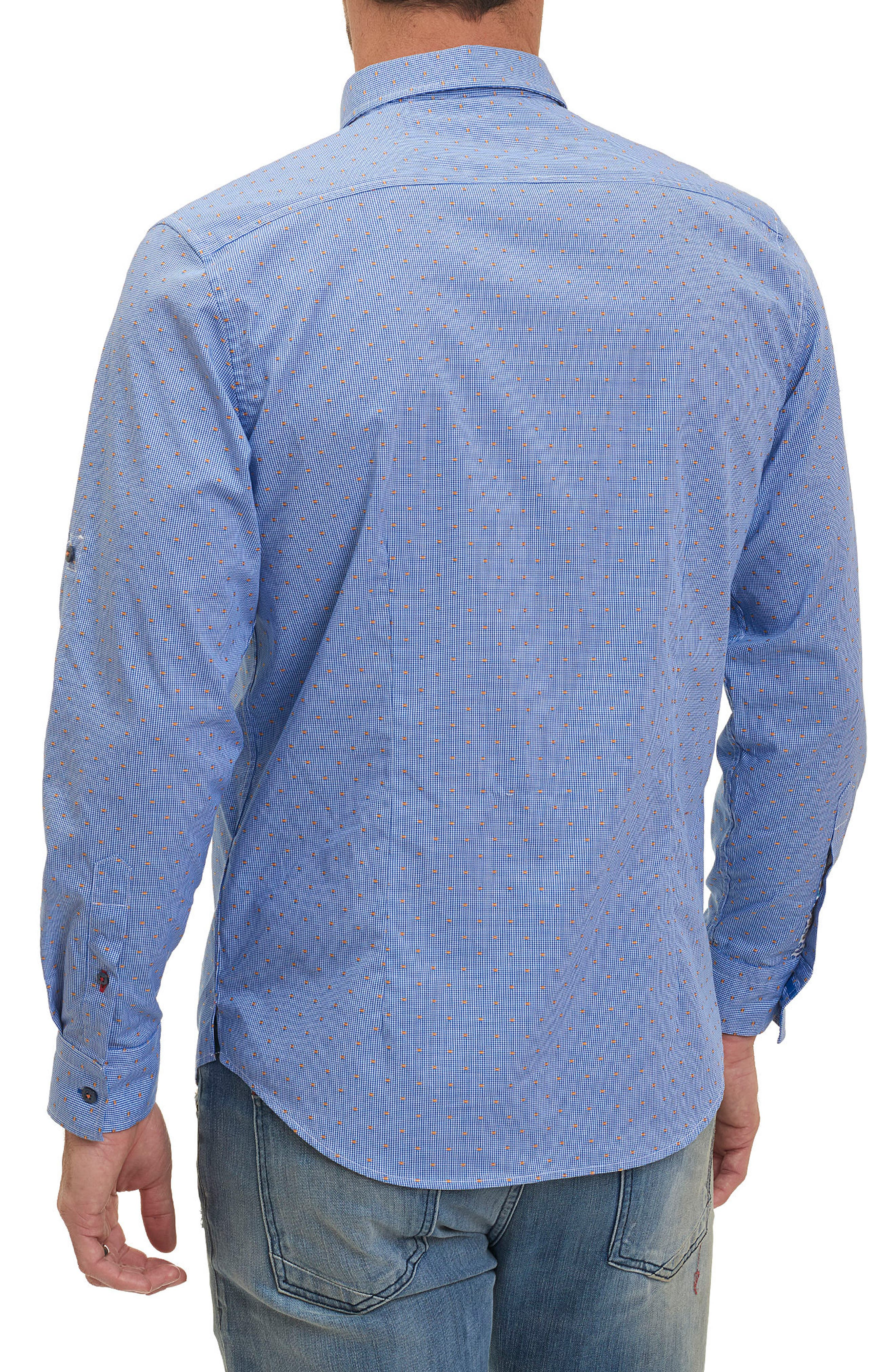 Tailored Fit Houndstooth Sport Shirt,                             Alternate thumbnail 5, color,