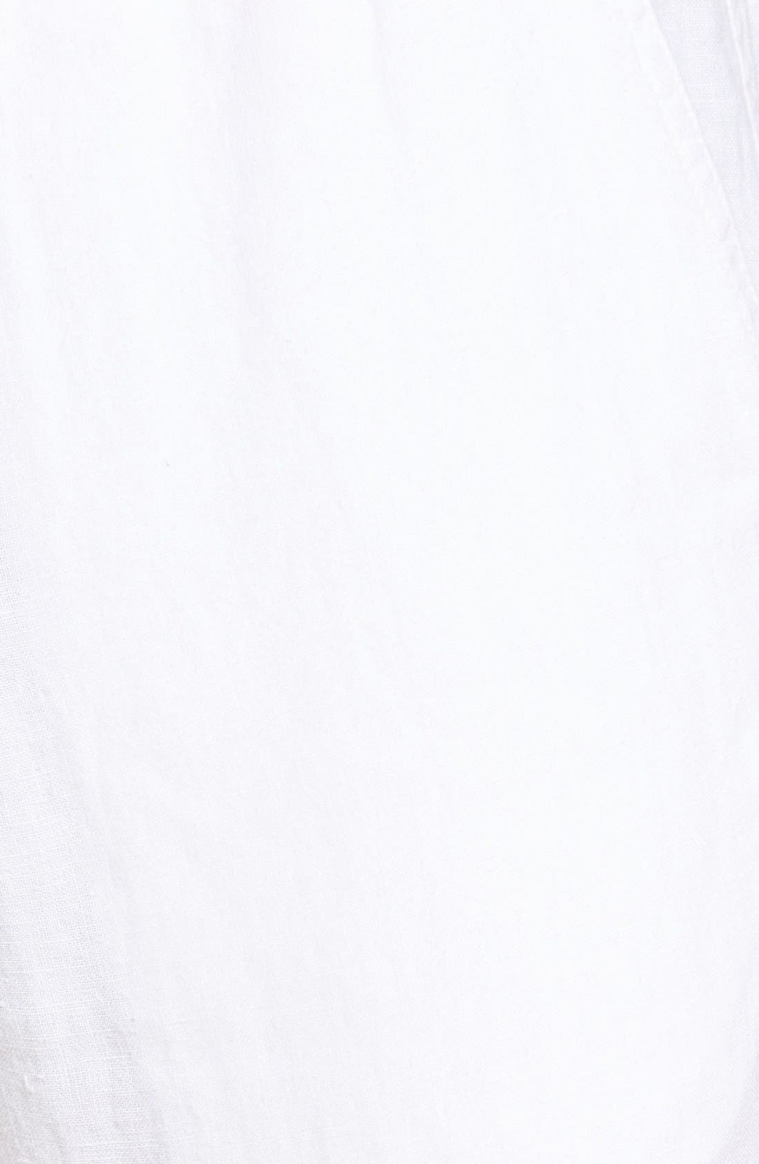 'Classic' Linen Pants,                             Alternate thumbnail 5, color,                             WHITE