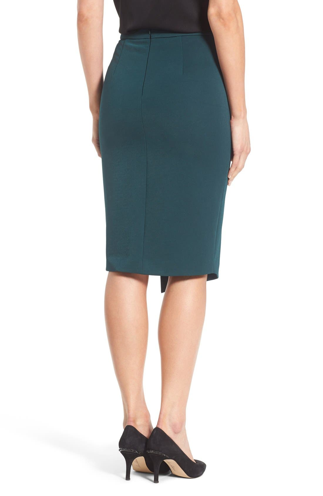 Asymmetrical Zip Pencil Skirt,                             Alternate thumbnail 18, color,
