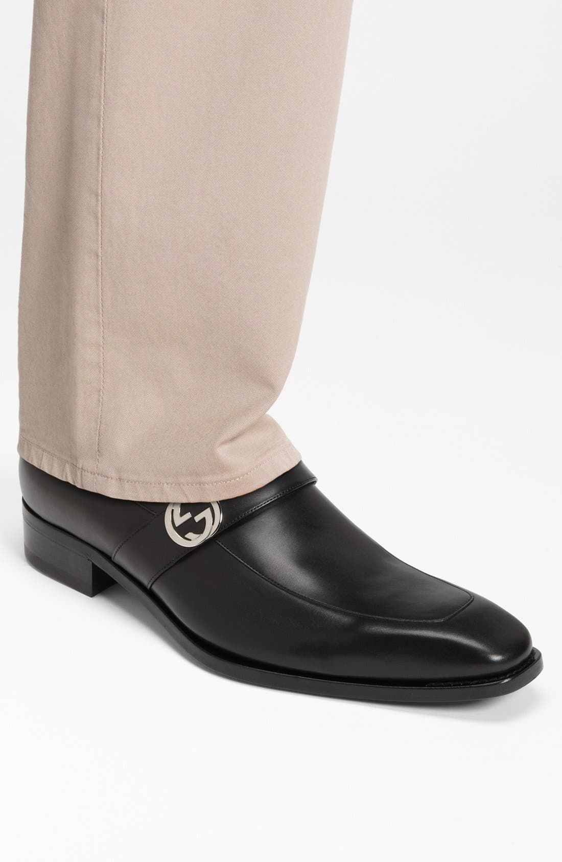 GUCCI,                             'Double G' Loafer,                             Alternate thumbnail 5, color,                             005
