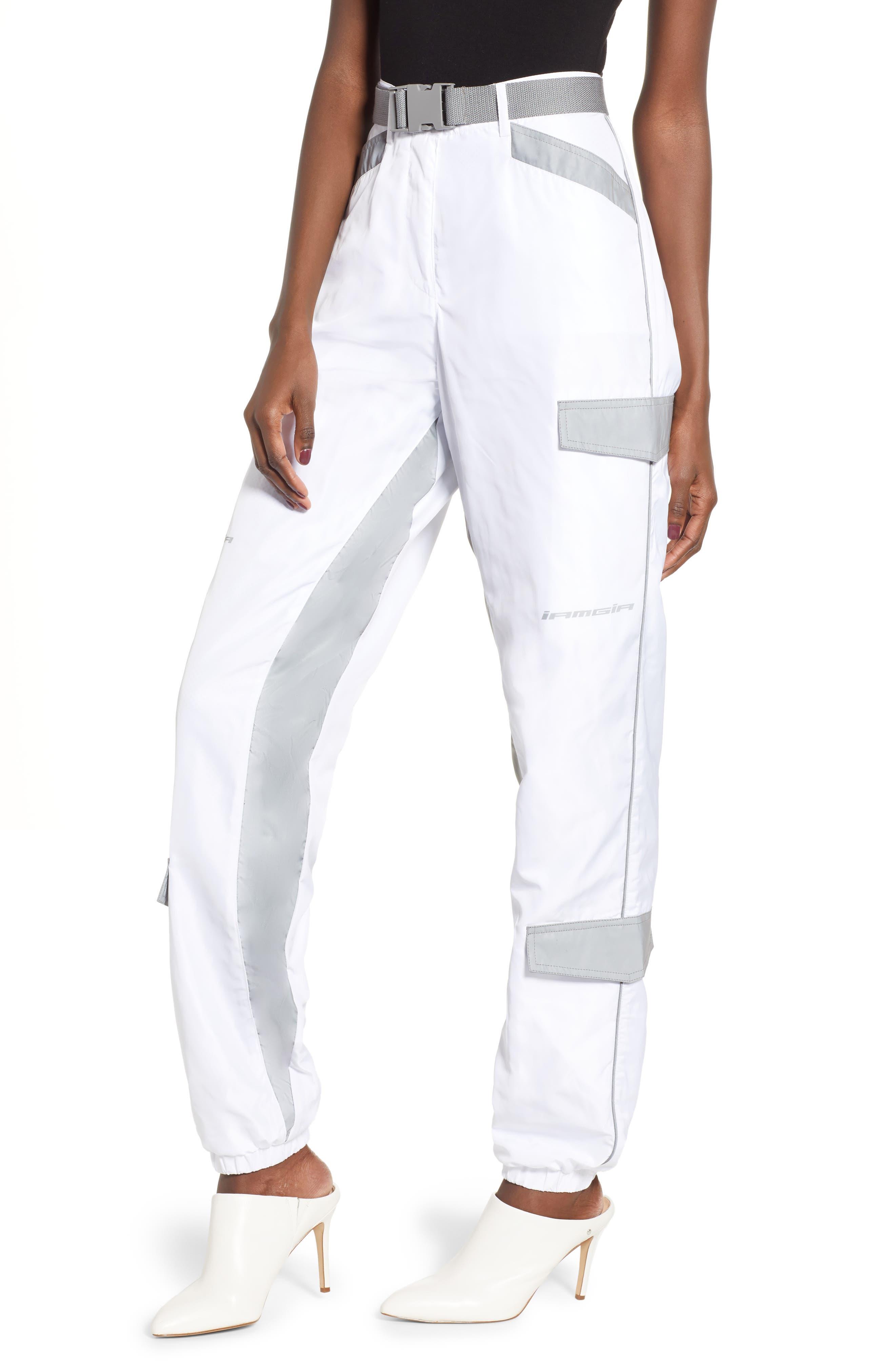 Halo Pants,                             Main thumbnail 1, color,                             WHITE