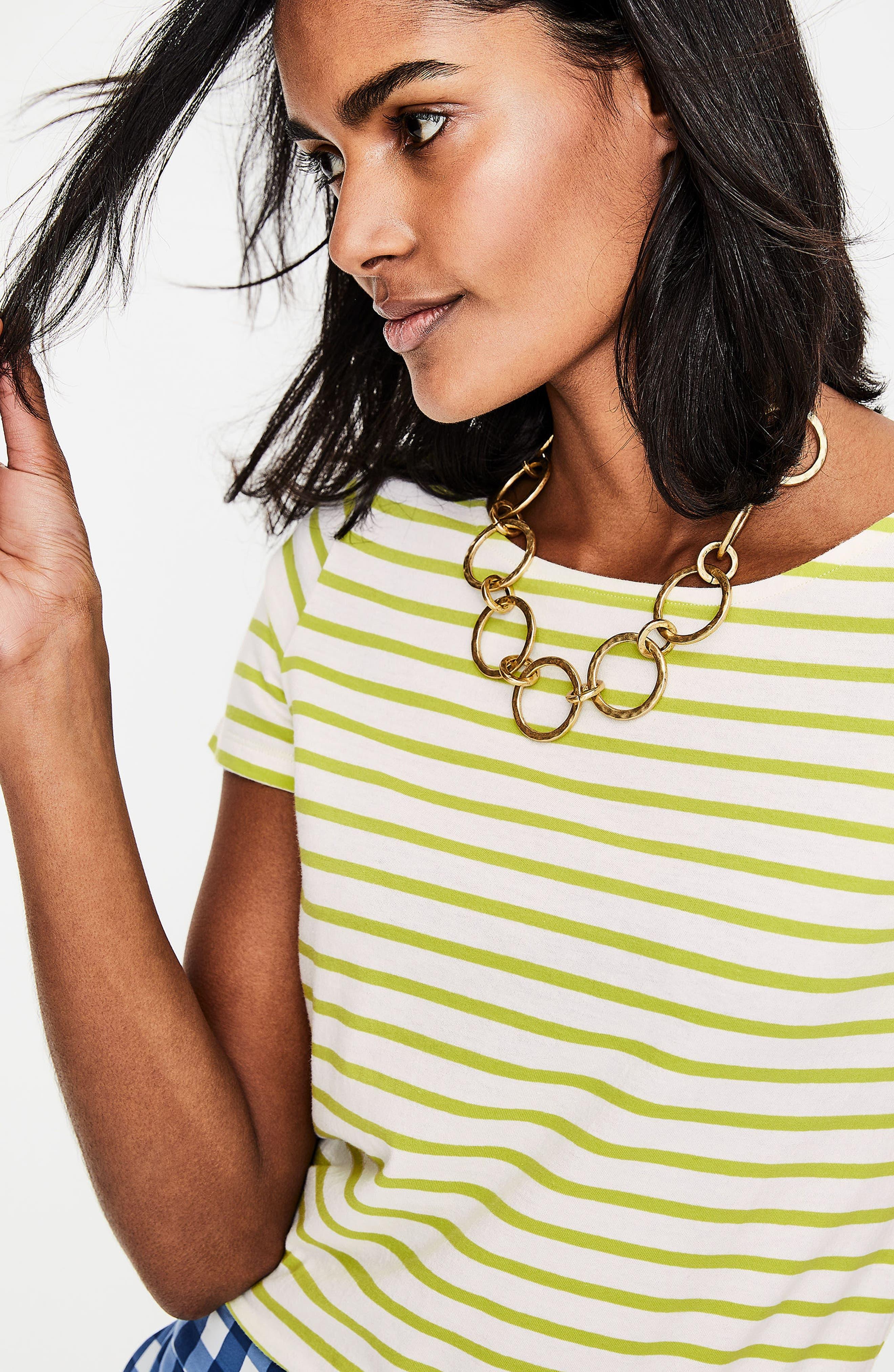 Breton Short Sleeve Stripe Cotton Top,                             Alternate thumbnail 24, color,