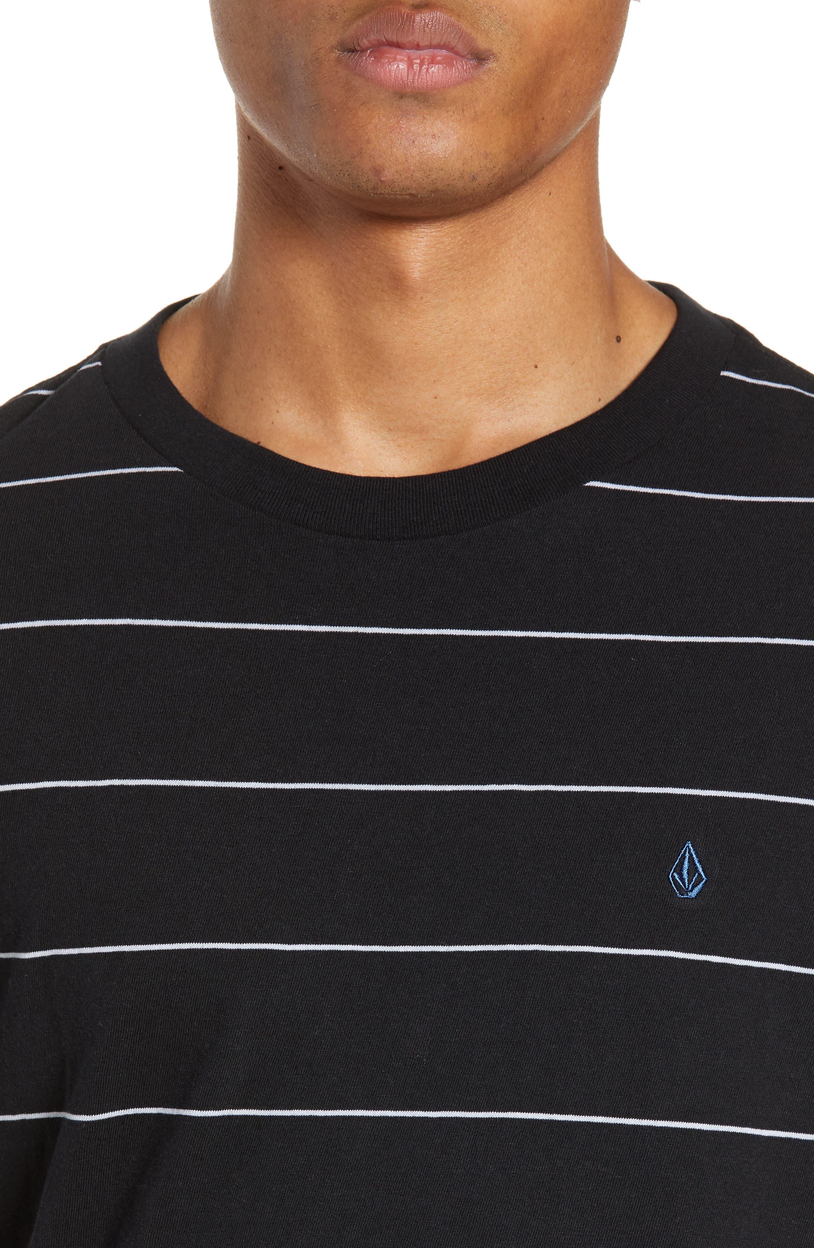 Joben Striped T-Shirt,                             Alternate thumbnail 4, color,                             BLACK