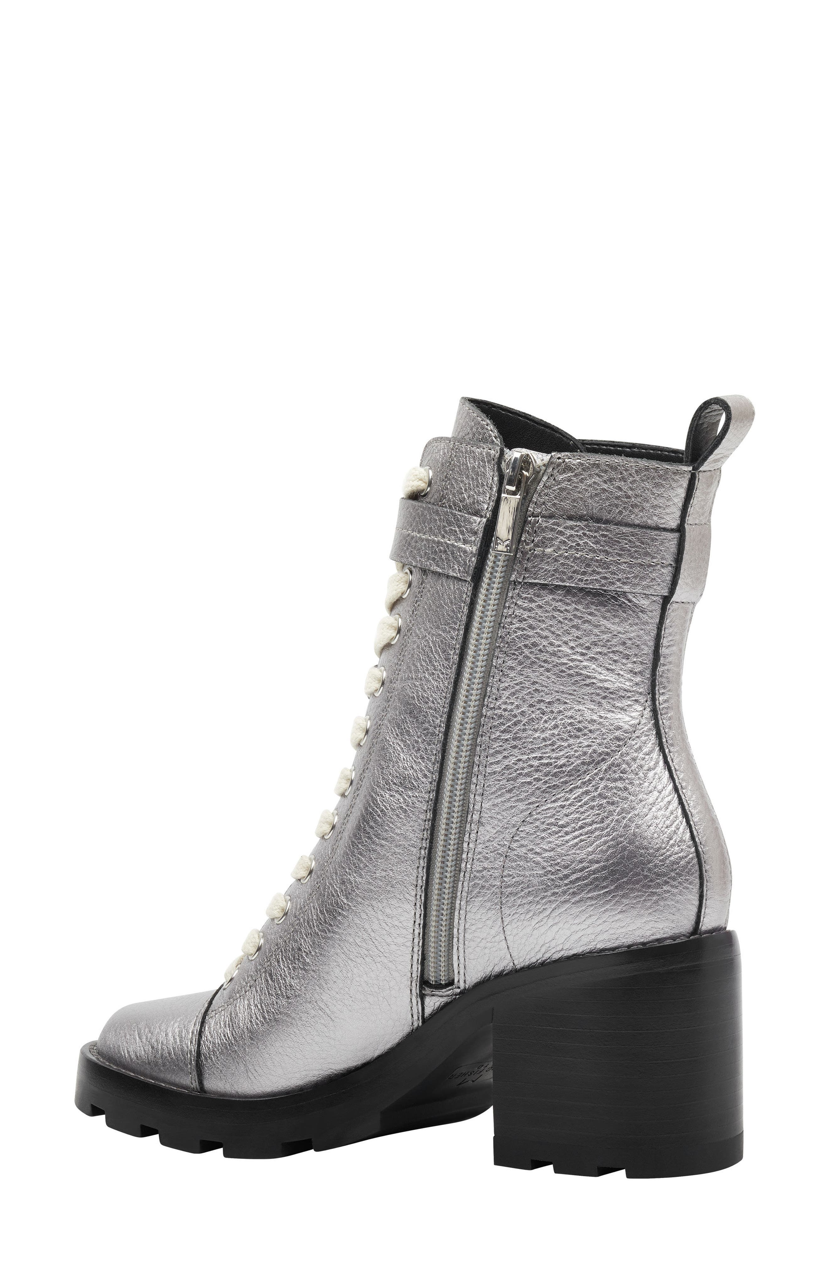 Waren Combat Boot,                             Alternate thumbnail 2, color,                             PEWTER LEATHER