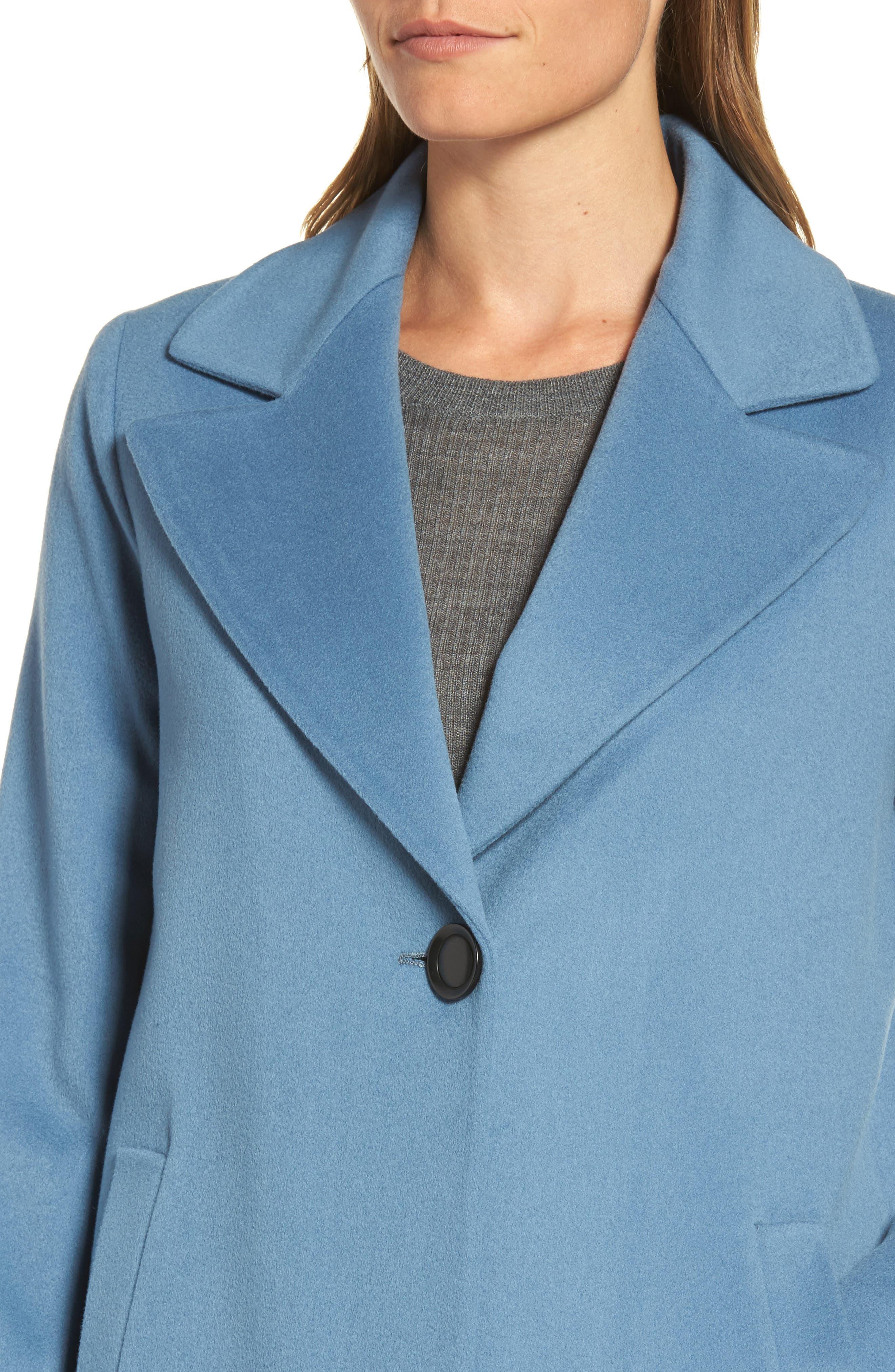 Single Button Wool Coat,                             Alternate thumbnail 4, color,                             425