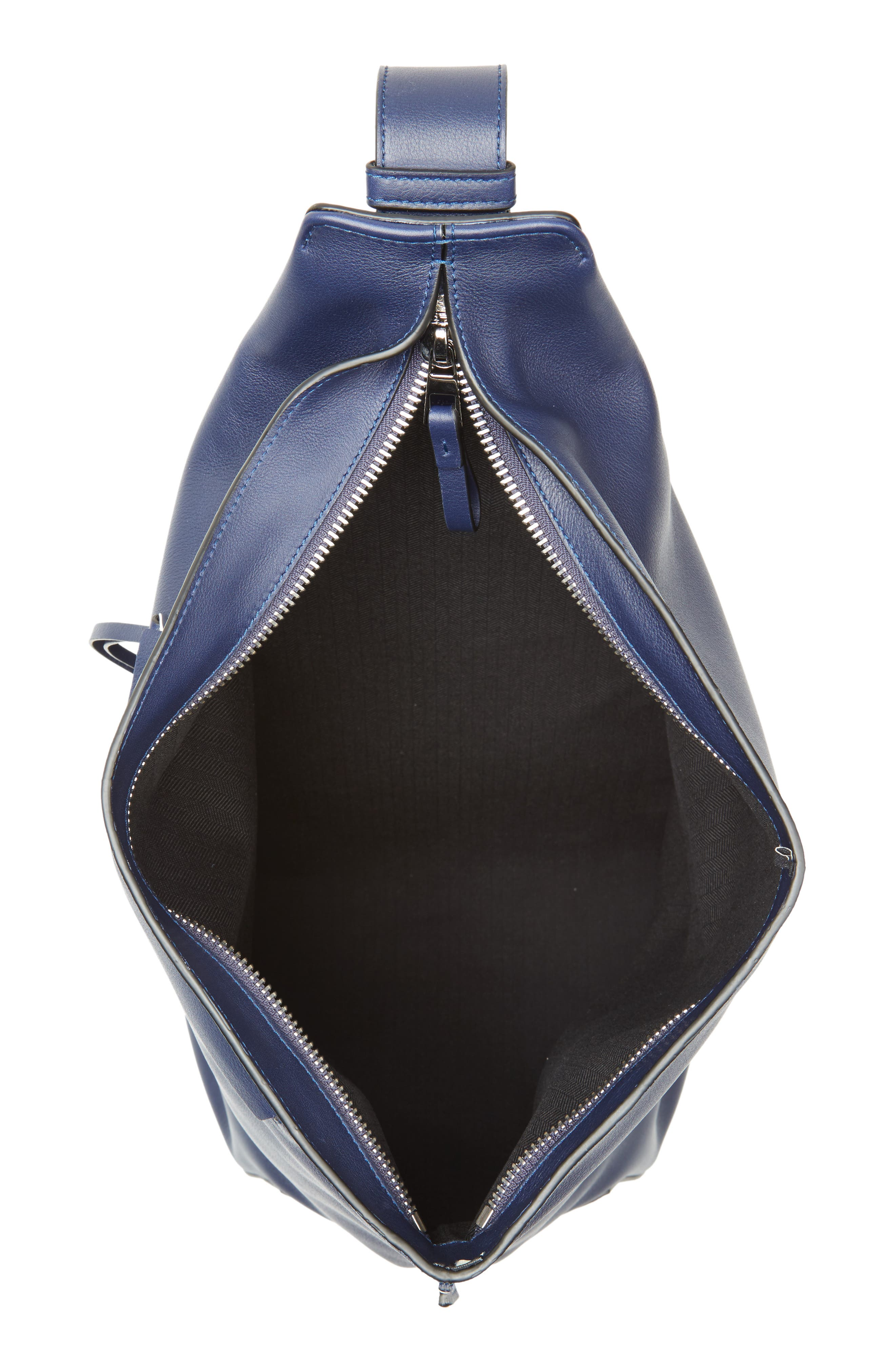 Anton Leather Sling Pack,                             Alternate thumbnail 4, color,                             NAVY BLUE
