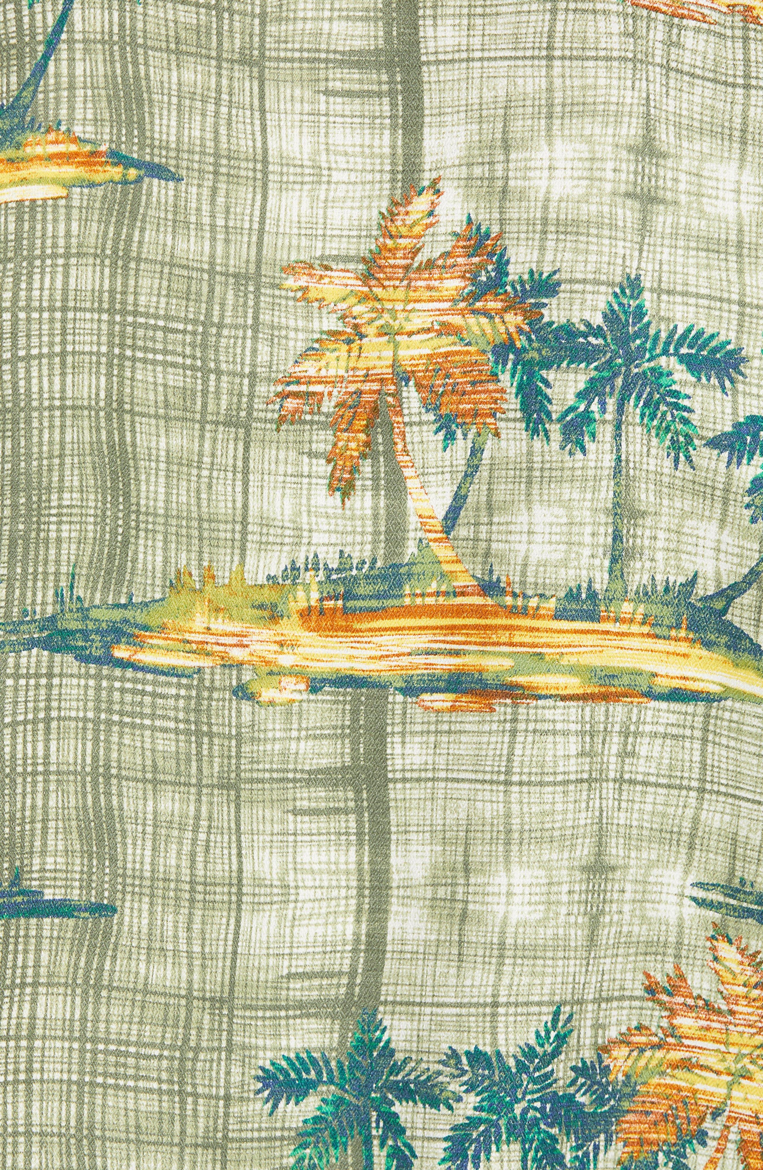Zama Palms Silk Blend Camp Shirt,                             Alternate thumbnail 5, color,
