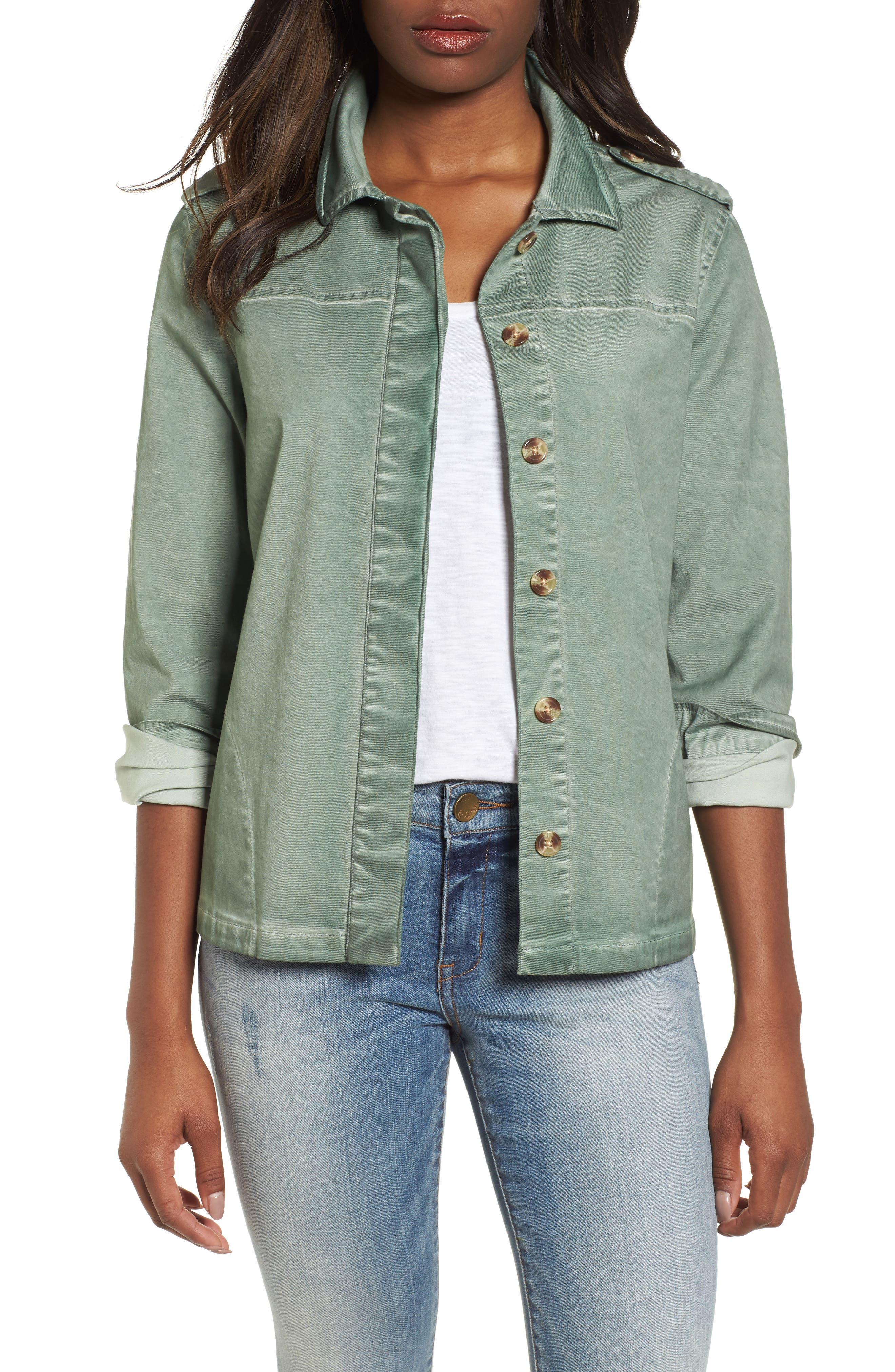 Shoulder Tab Button Up Jacket,                             Main thumbnail 1, color,                             330