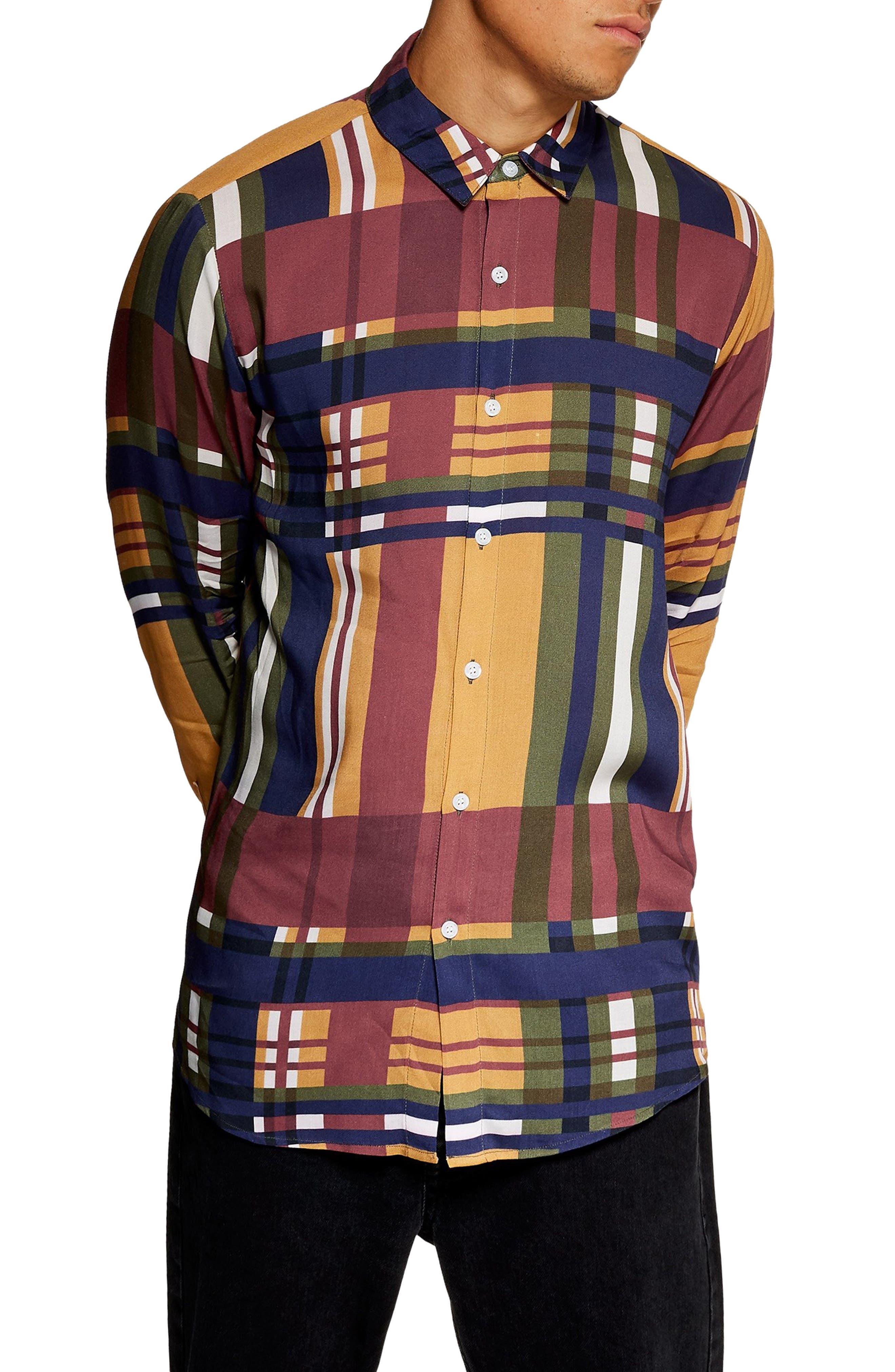 Tapenade Check Shirt,                         Main,                         color, YELLOW MULTI