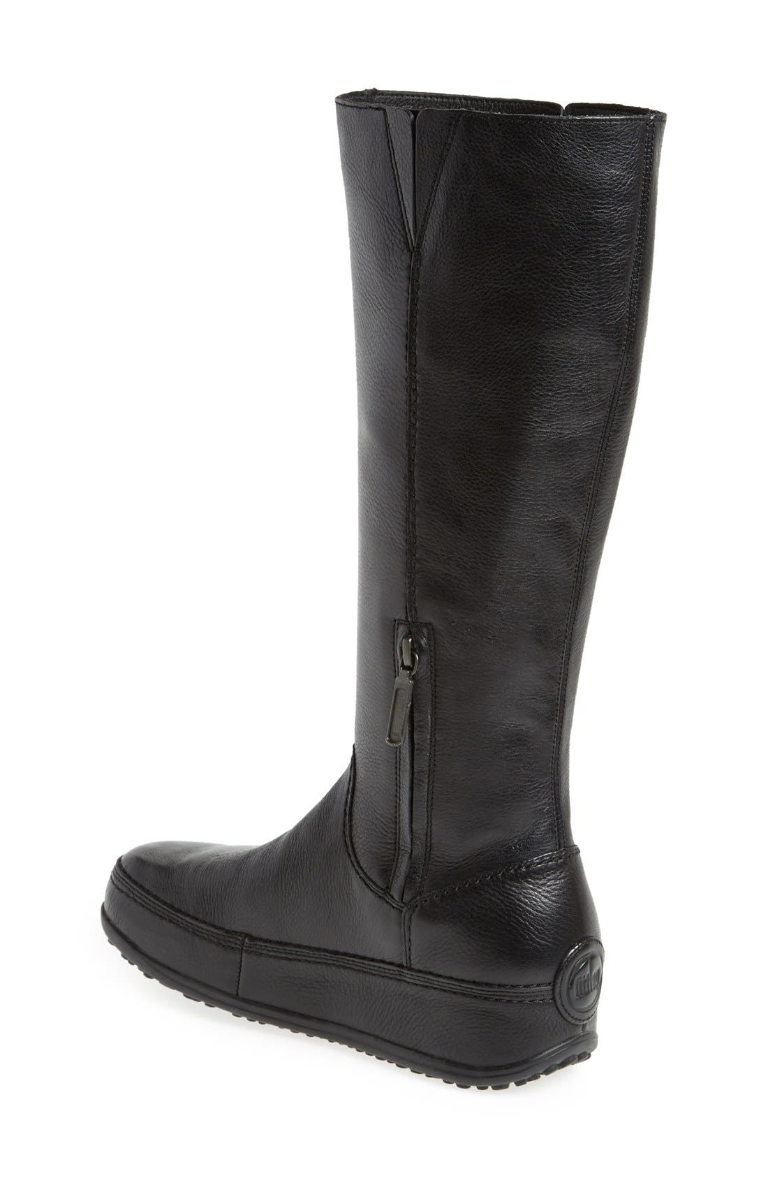 FITFLOP,                              'Superboot' Leather Boot,                             Alternate thumbnail 4, color,                             018