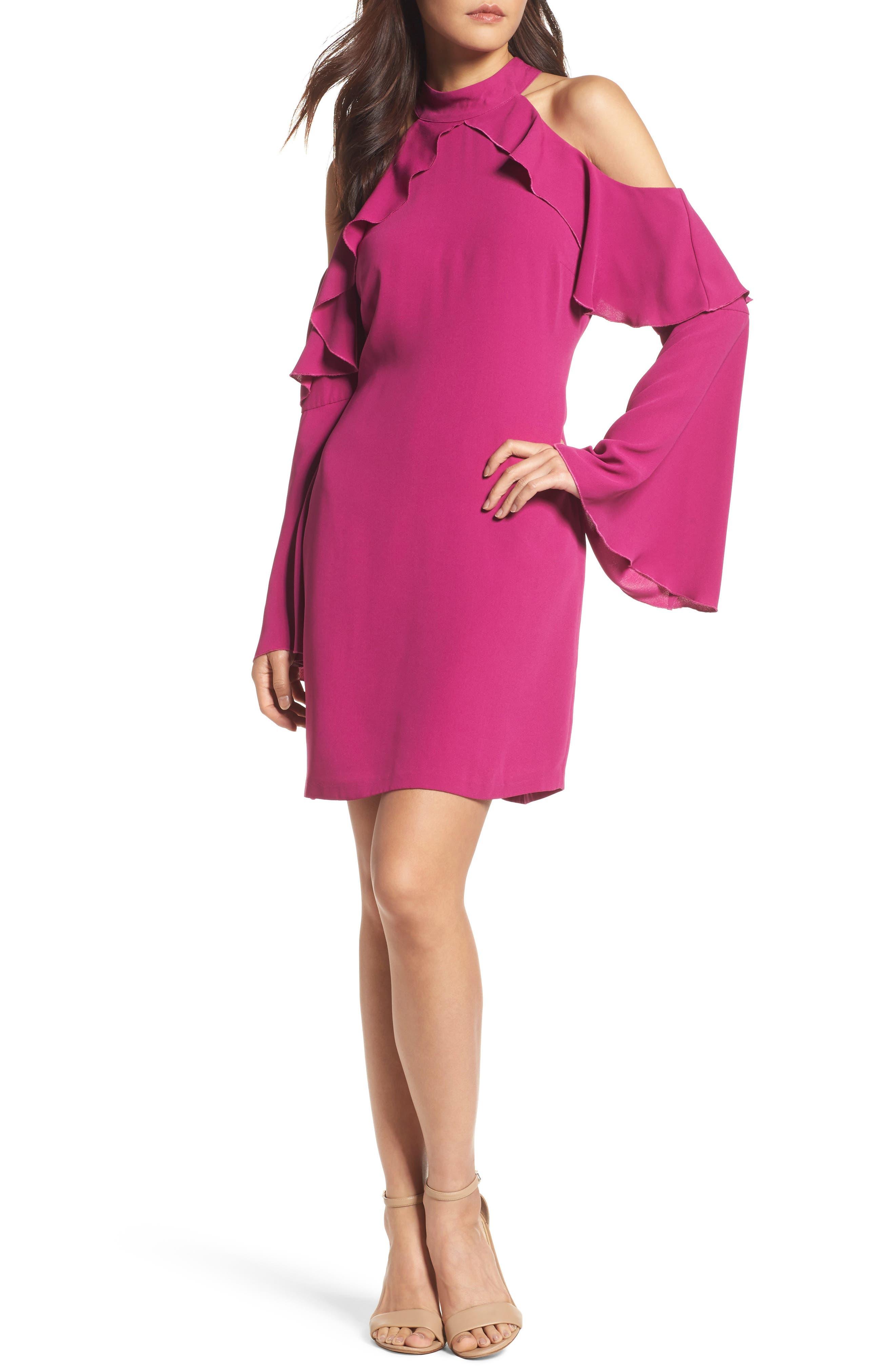 Sydney Cold Shoulder Dress,                             Main thumbnail 2, color,