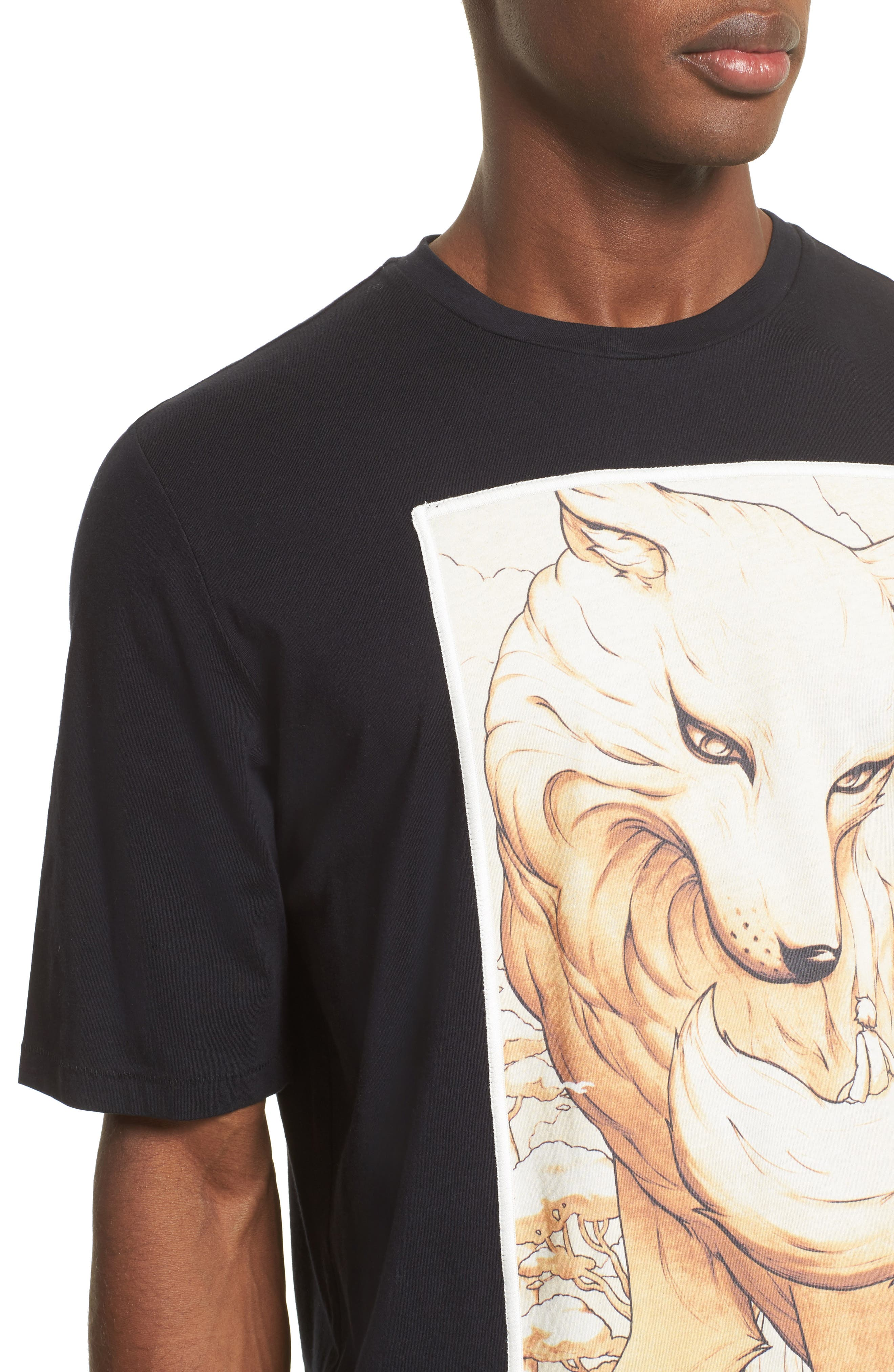 Animal Graphic T-Shirt,                             Alternate thumbnail 4, color,                             401