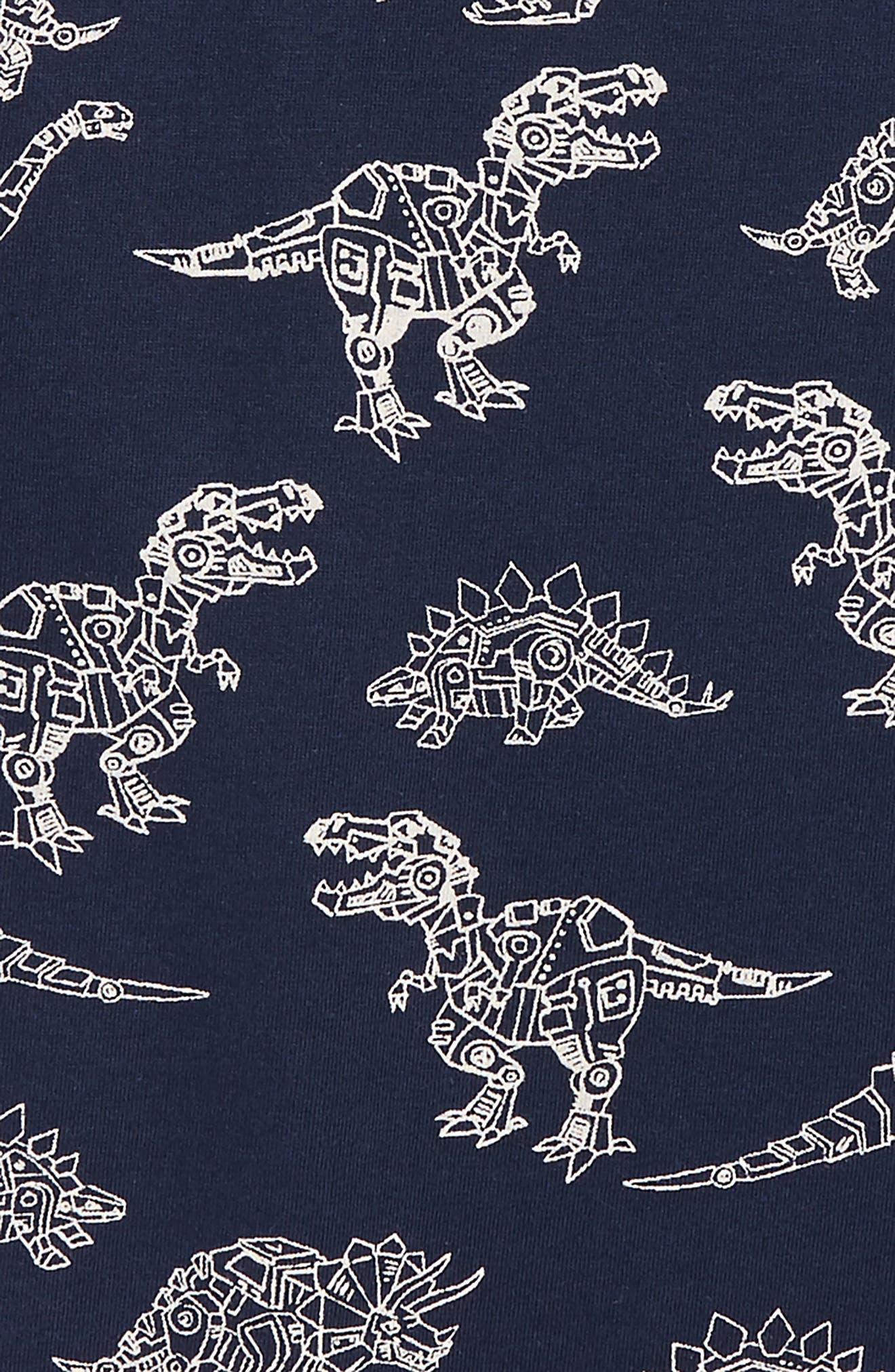 Robotic Dino Print T-Shirt,                             Alternate thumbnail 2, color,                             BLUE