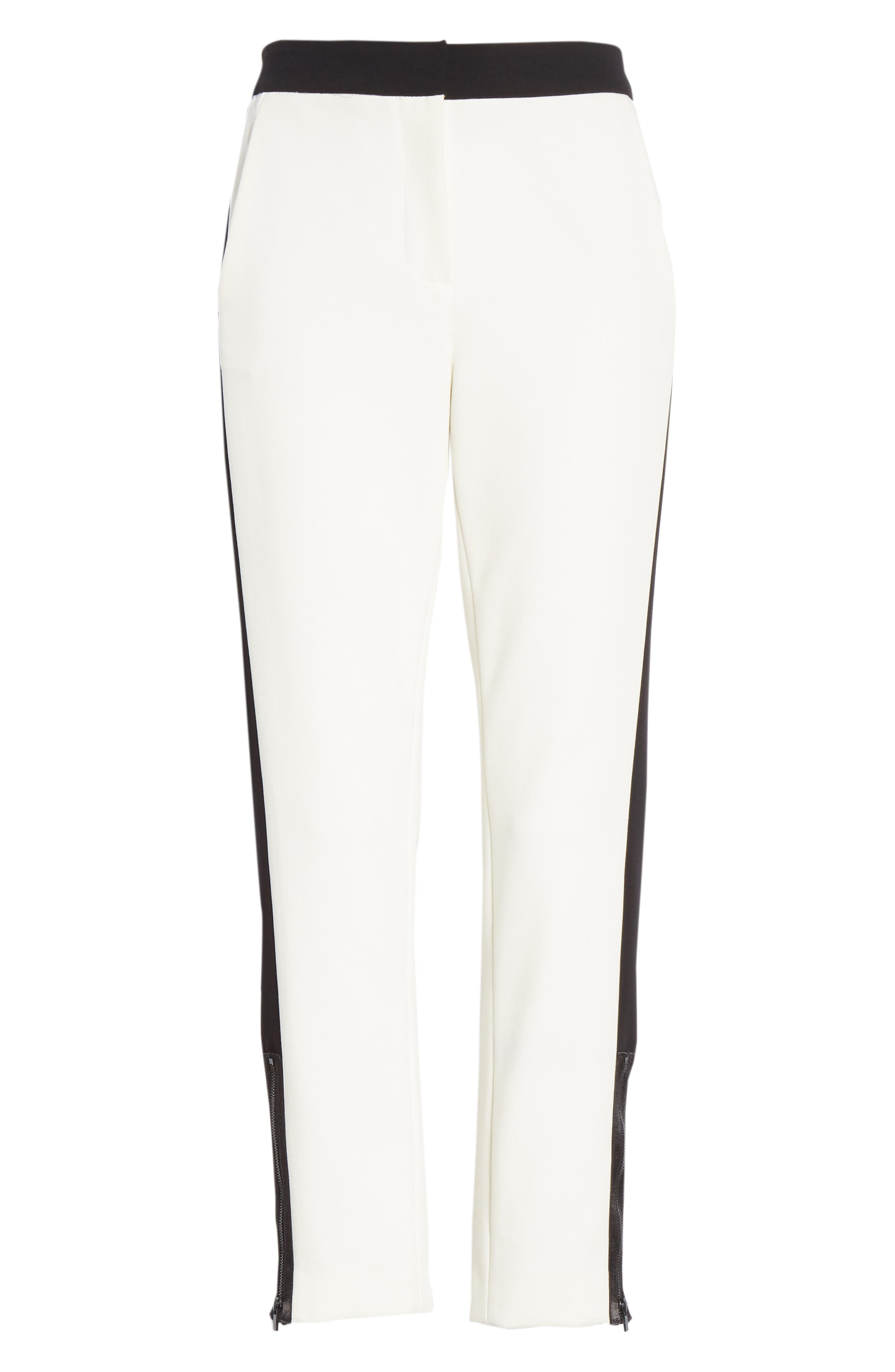 Anson Tuxedo Skinny Pants,                             Alternate thumbnail 6, color,                             IVORY MULTI