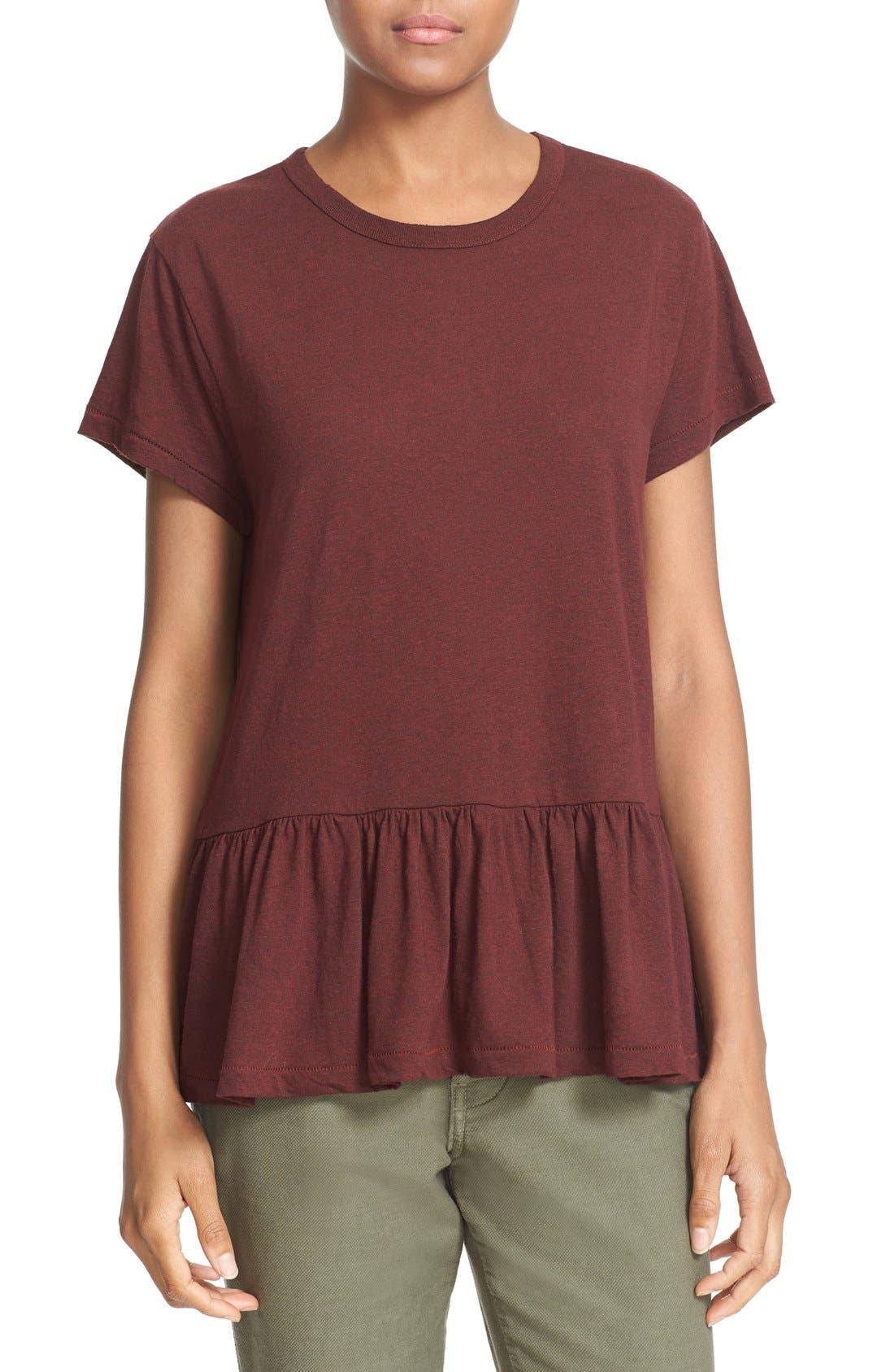 The Ruffle Tee,                             Main thumbnail 15, color,