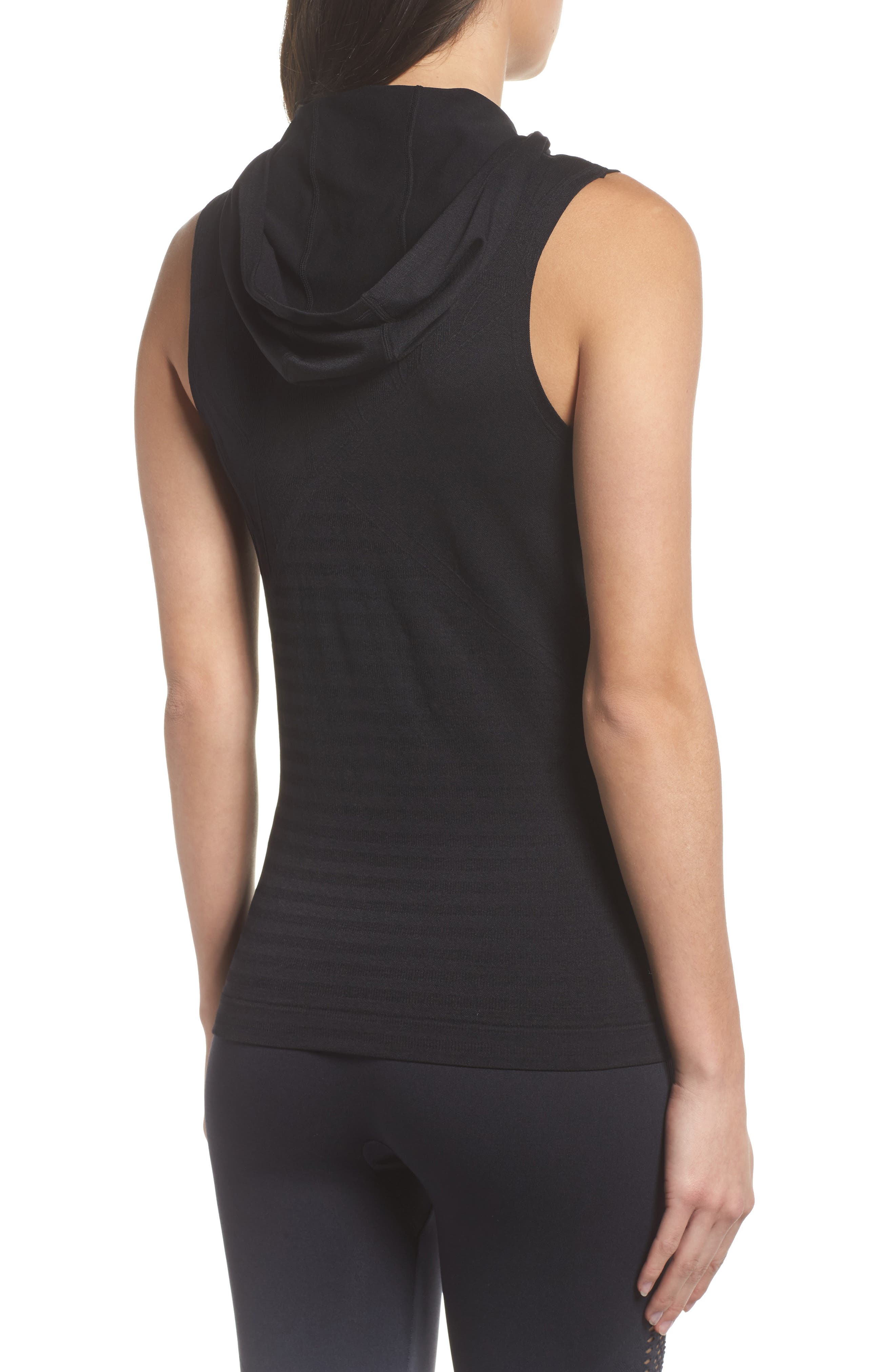 Velocity Sleeveless Hoodie,                             Alternate thumbnail 2, color,                             001