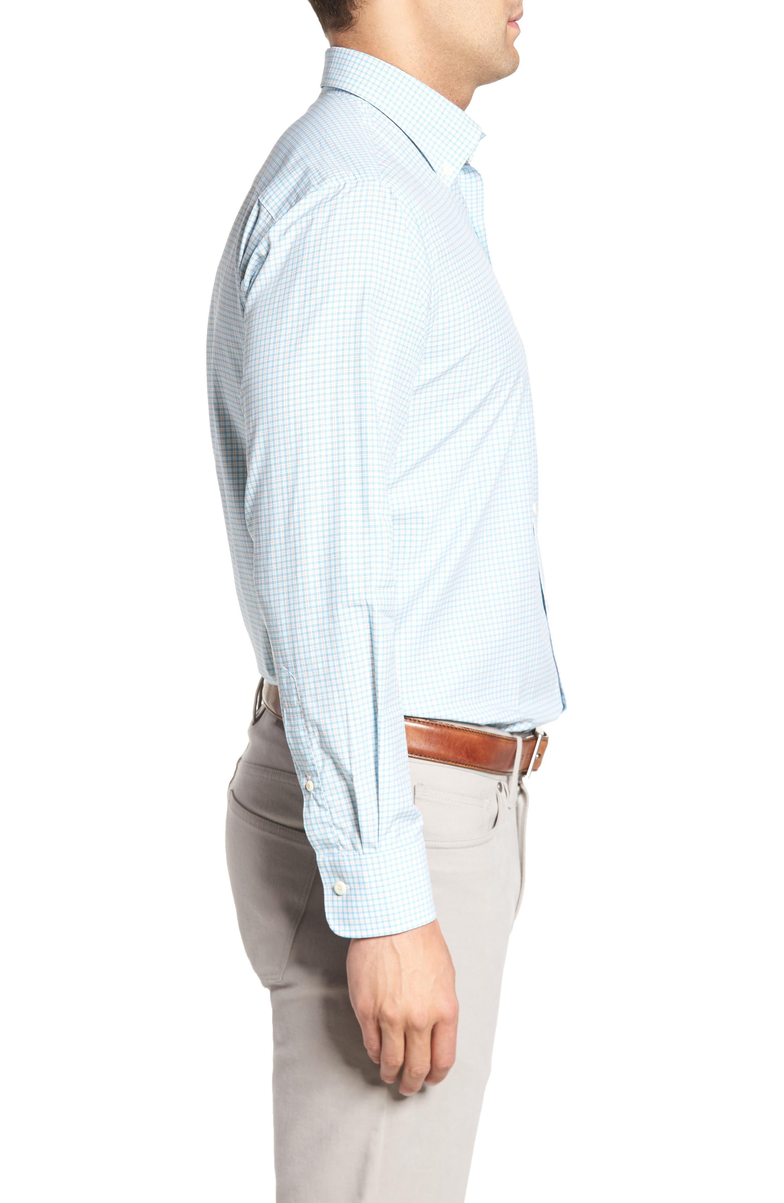 Crown Finish Regular Fit Check Sport Shirt,                             Alternate thumbnail 5, color,