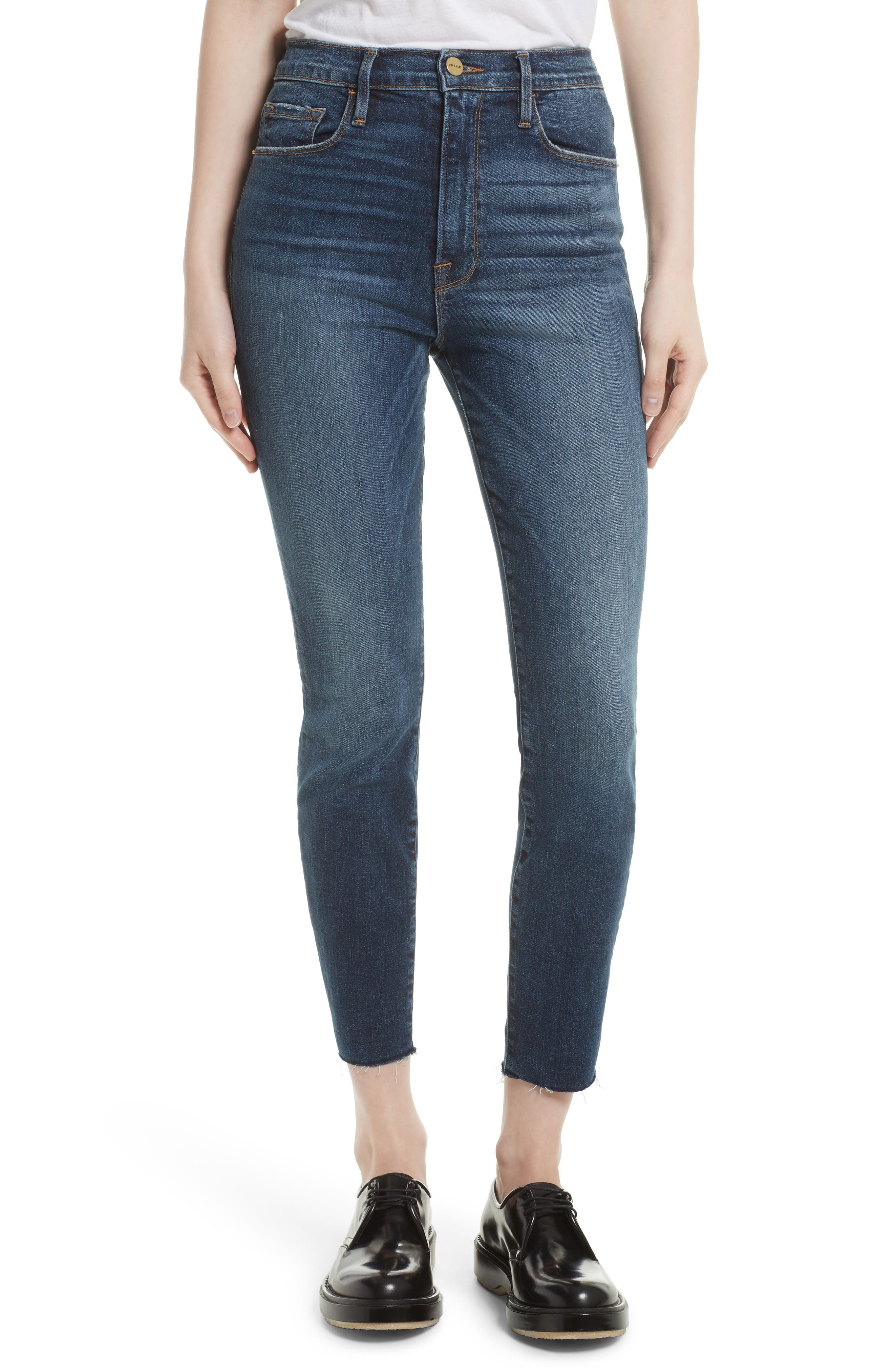 Le High Ankle Skinny Jeans,                             Main thumbnail 1, color,