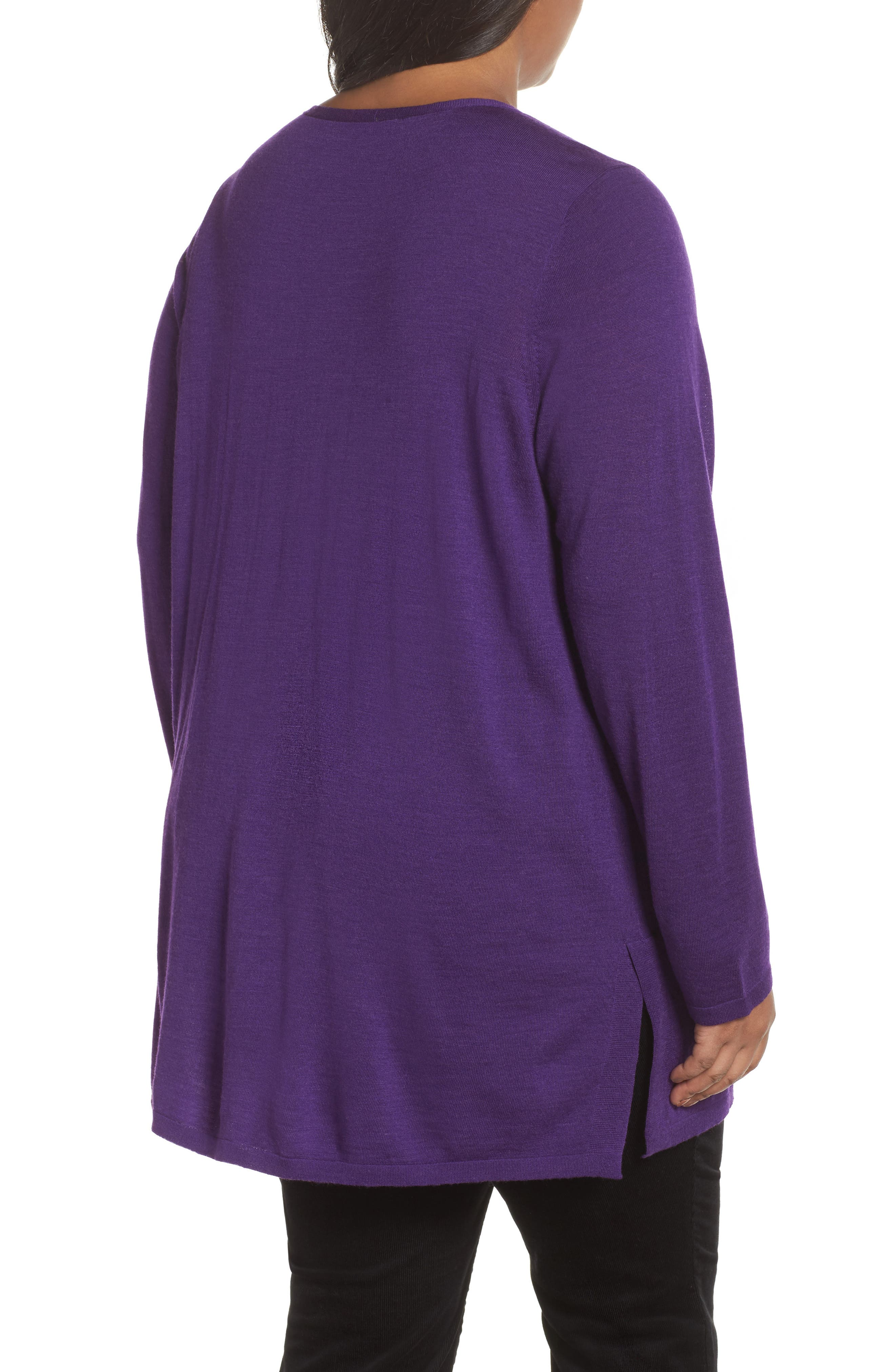Merino Wool Tunic Sweater,                             Alternate thumbnail 9, color,