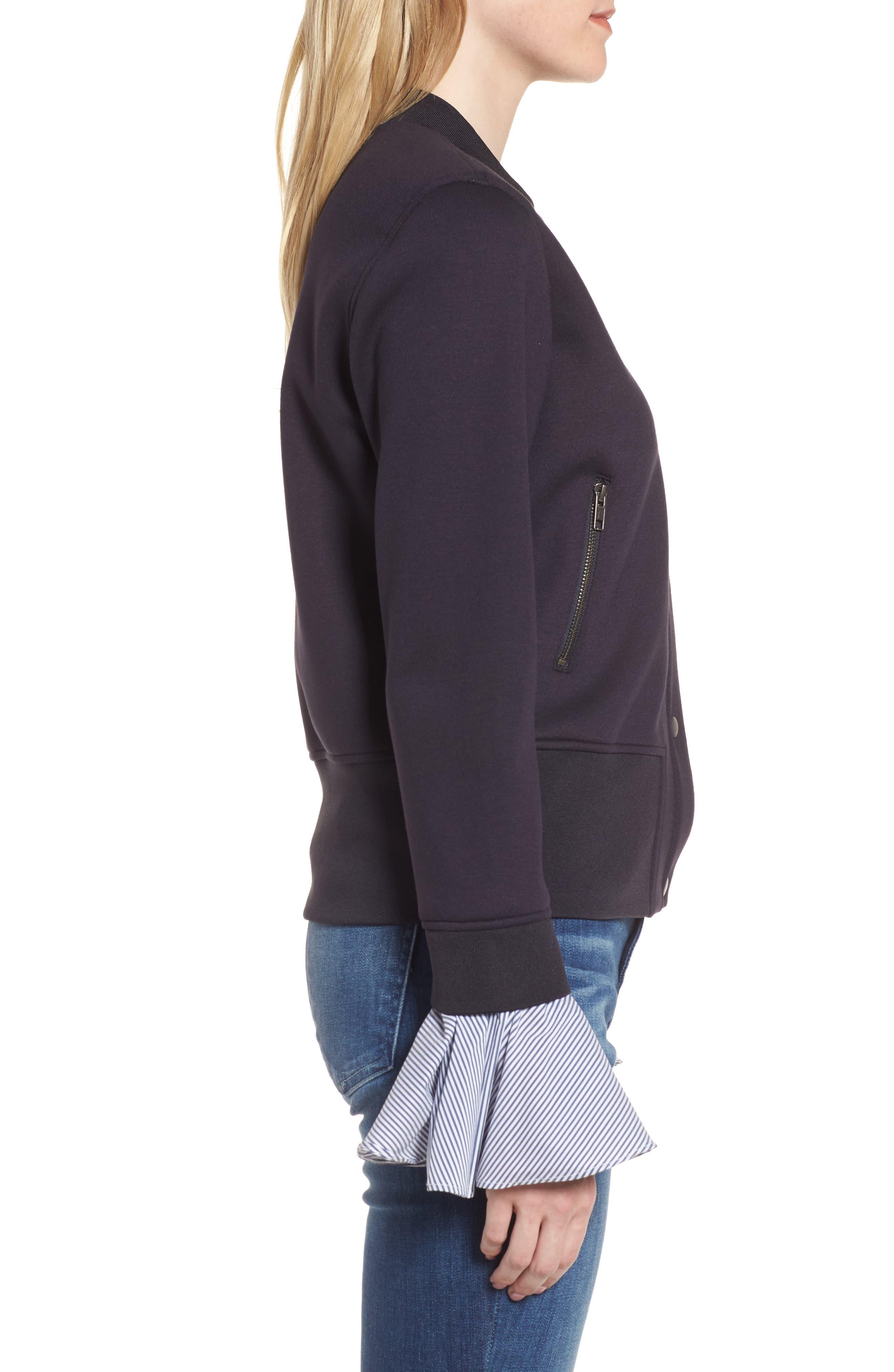 Ruffle Sleeve Jacket,                             Alternate thumbnail 3, color,                             410