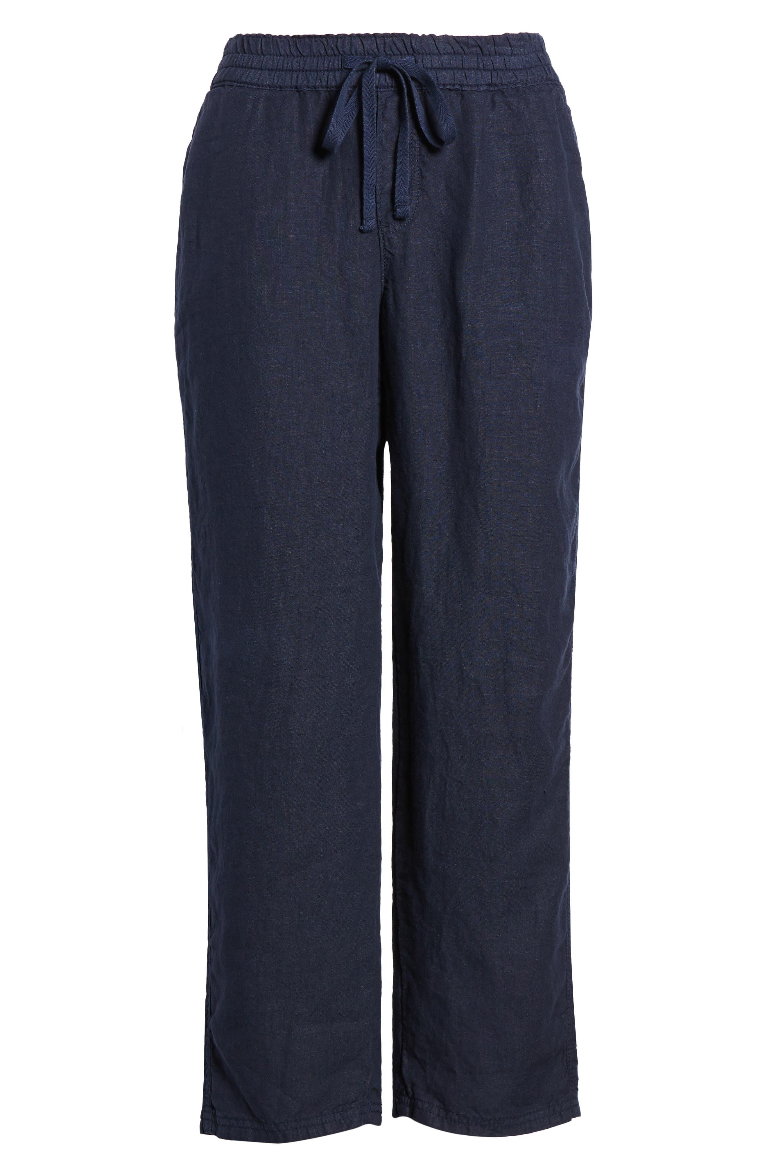 Linen Crop Pants,                             Alternate thumbnail 39, color,