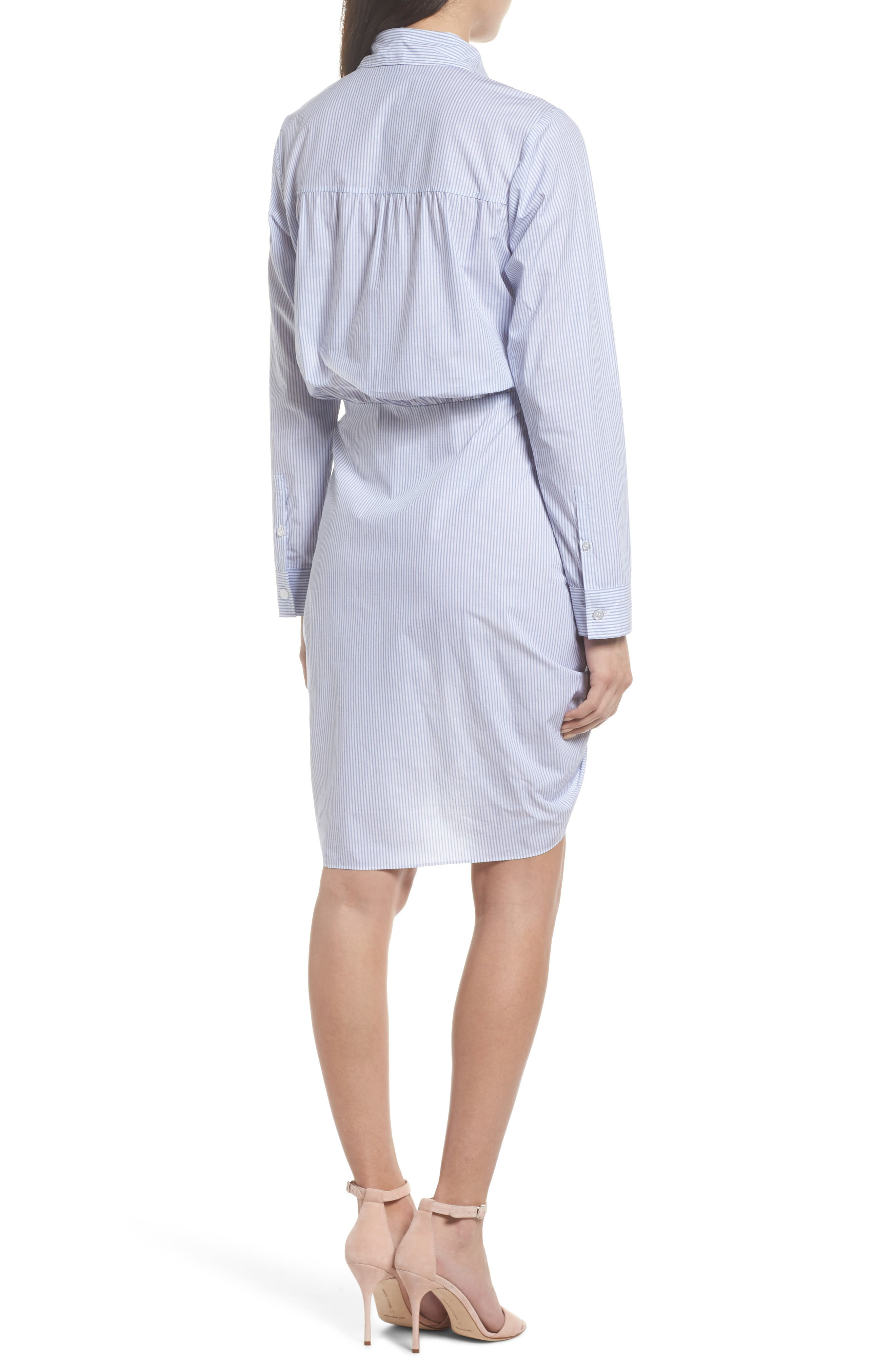 Ruched Tie Waist Shirtdress,                             Alternate thumbnail 2, color,                             450
