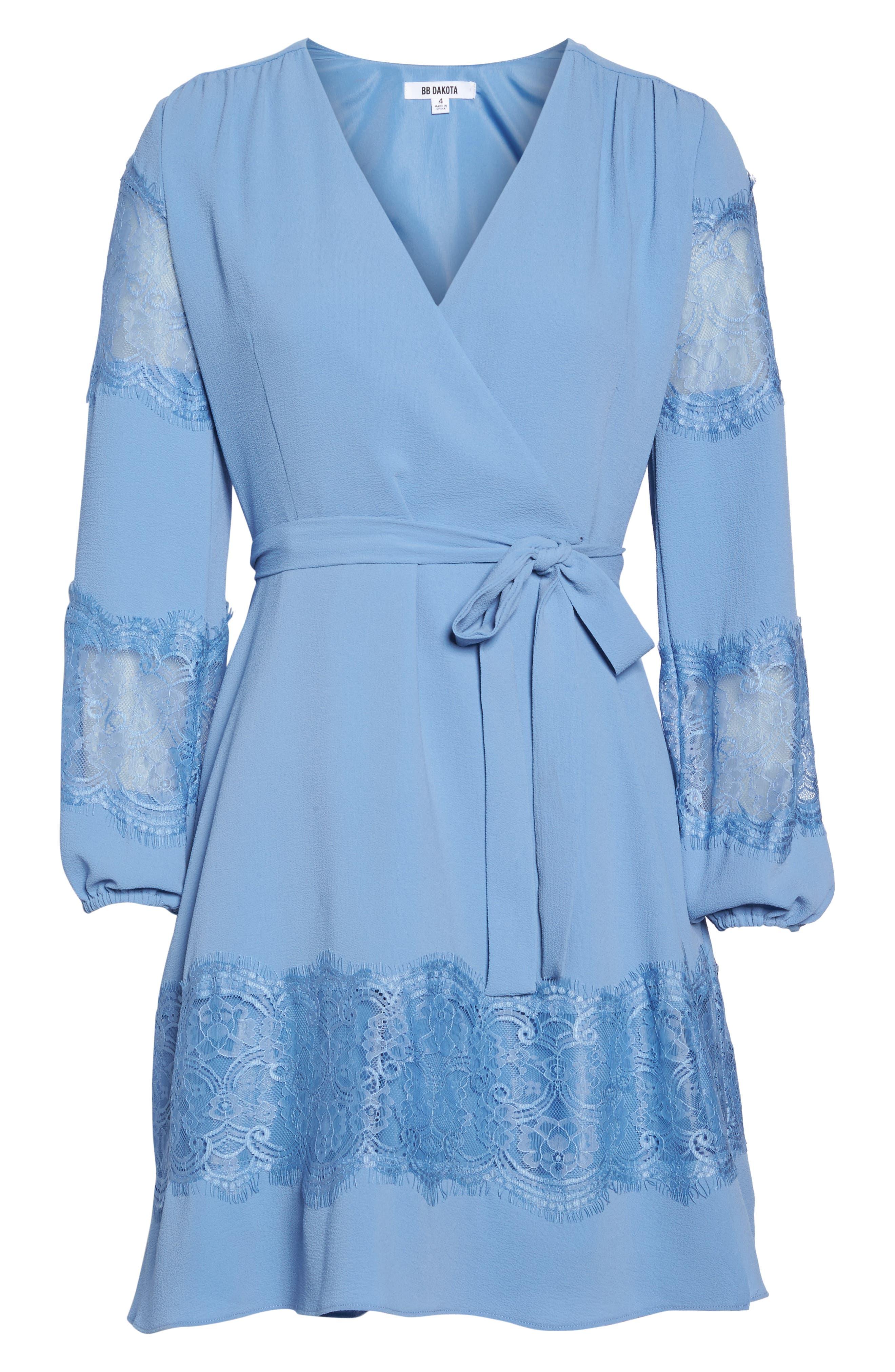 Lauryl Wrap Dress,                             Alternate thumbnail 6, color,                             450