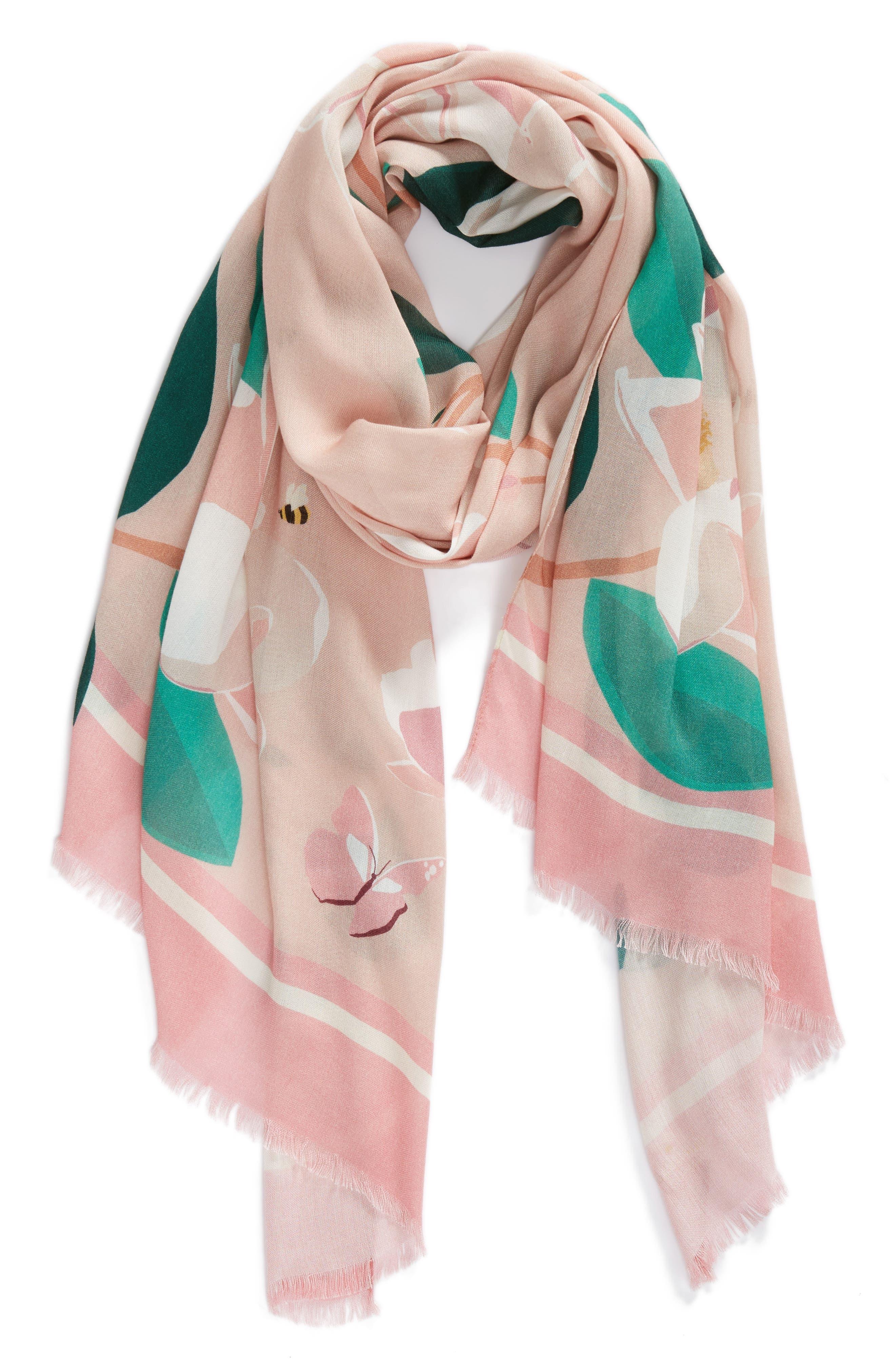magnolia scarf,                             Alternate thumbnail 2, color,                             698