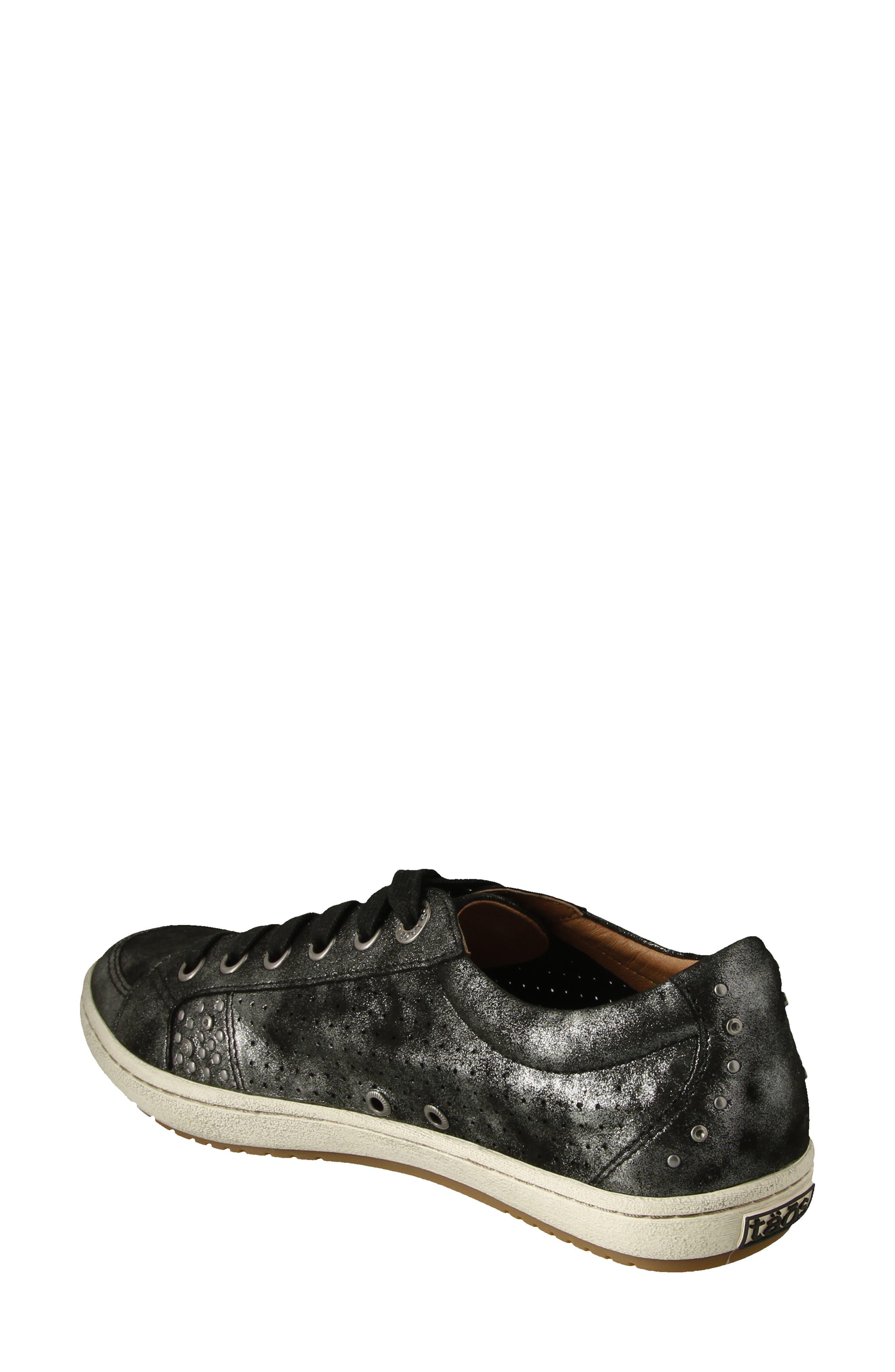 'Freedom' Sneaker,                             Alternate thumbnail 2, color,                             BLACK METALLIC LEATHER