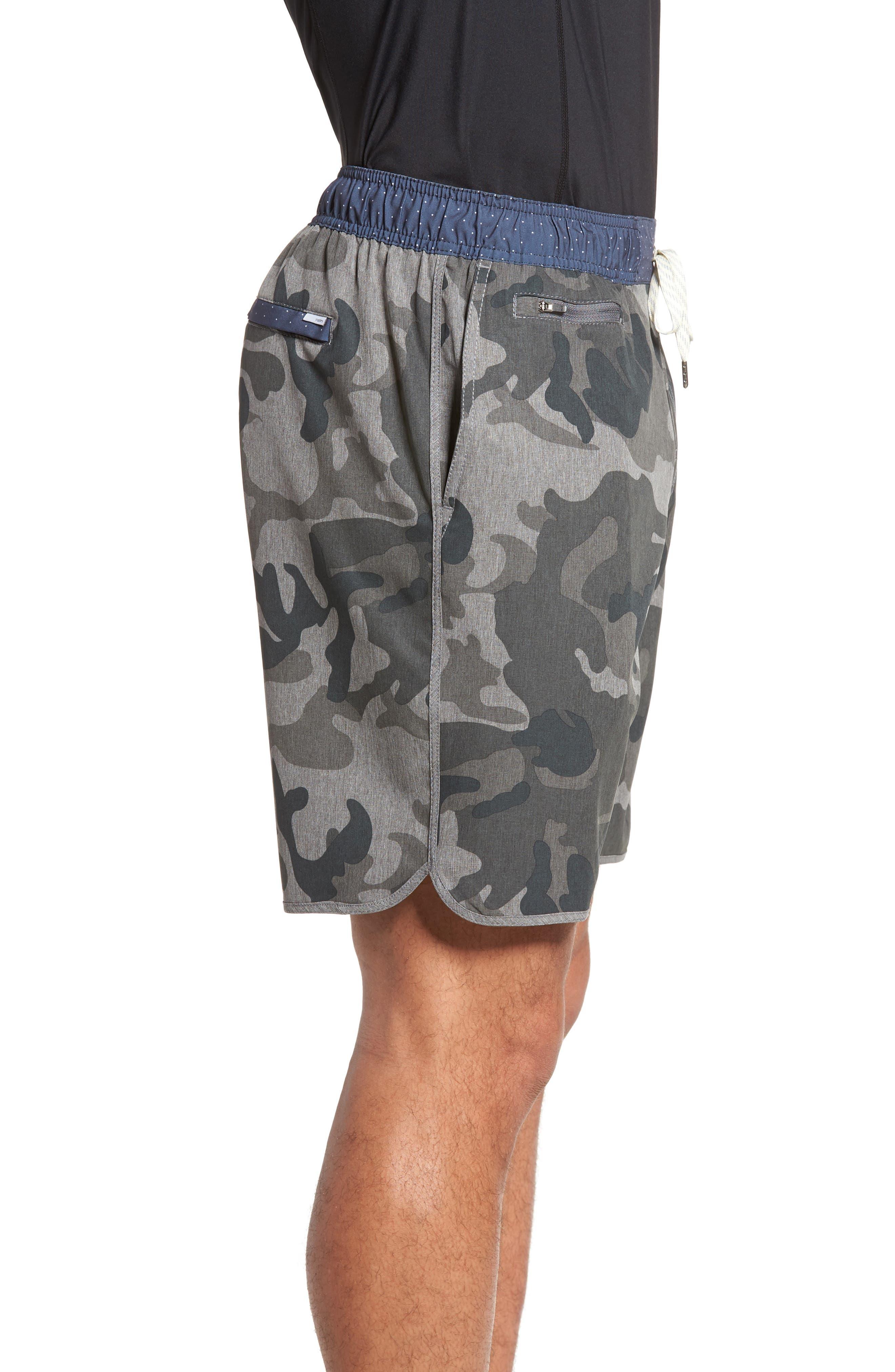 Banks Performance Hybrid Shorts,                             Alternate thumbnail 3, color,                             CAMO GREY