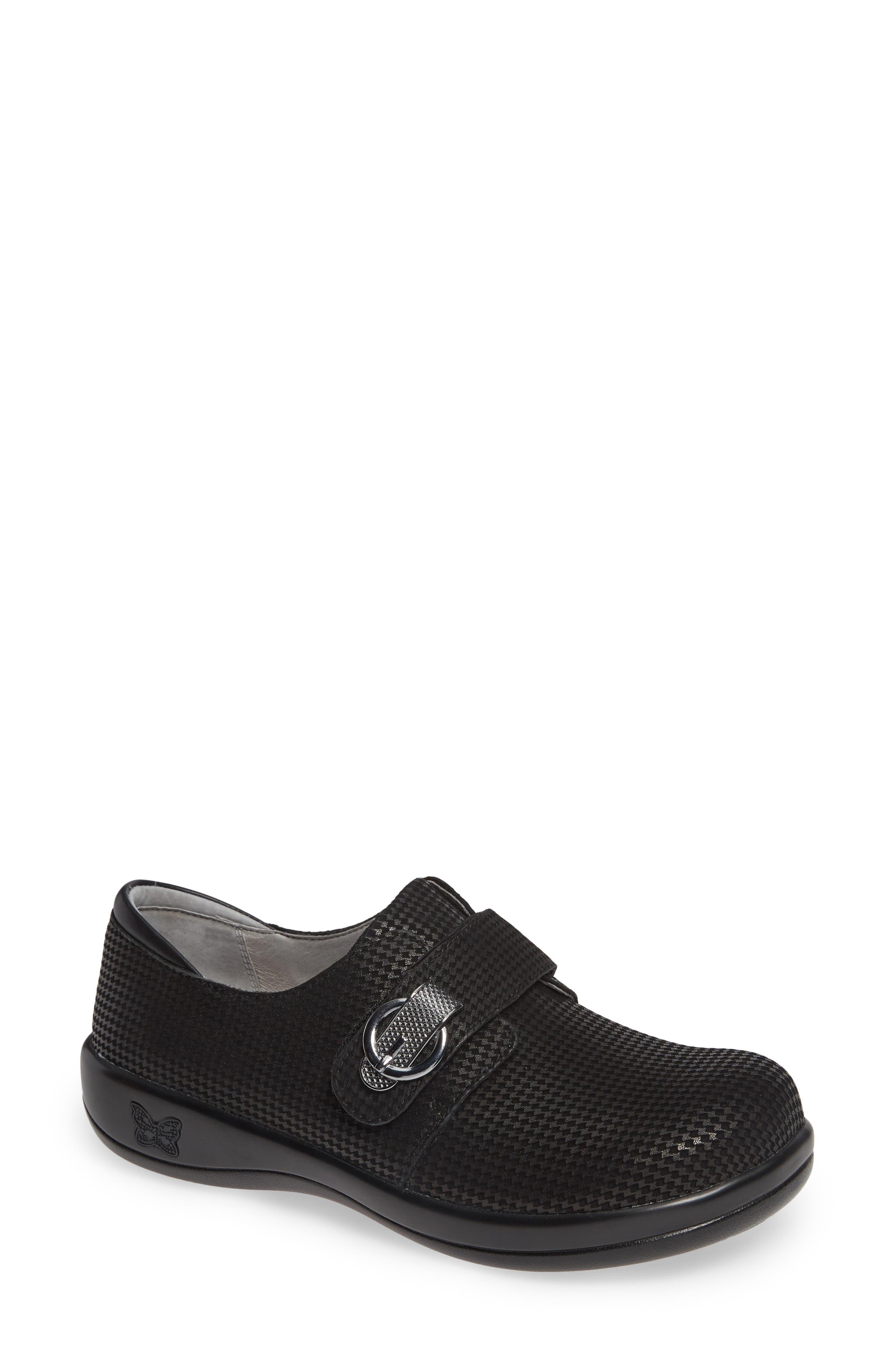 'Joleen' Slip-On,                         Main,                         color, BLACK MINI LEATHER
