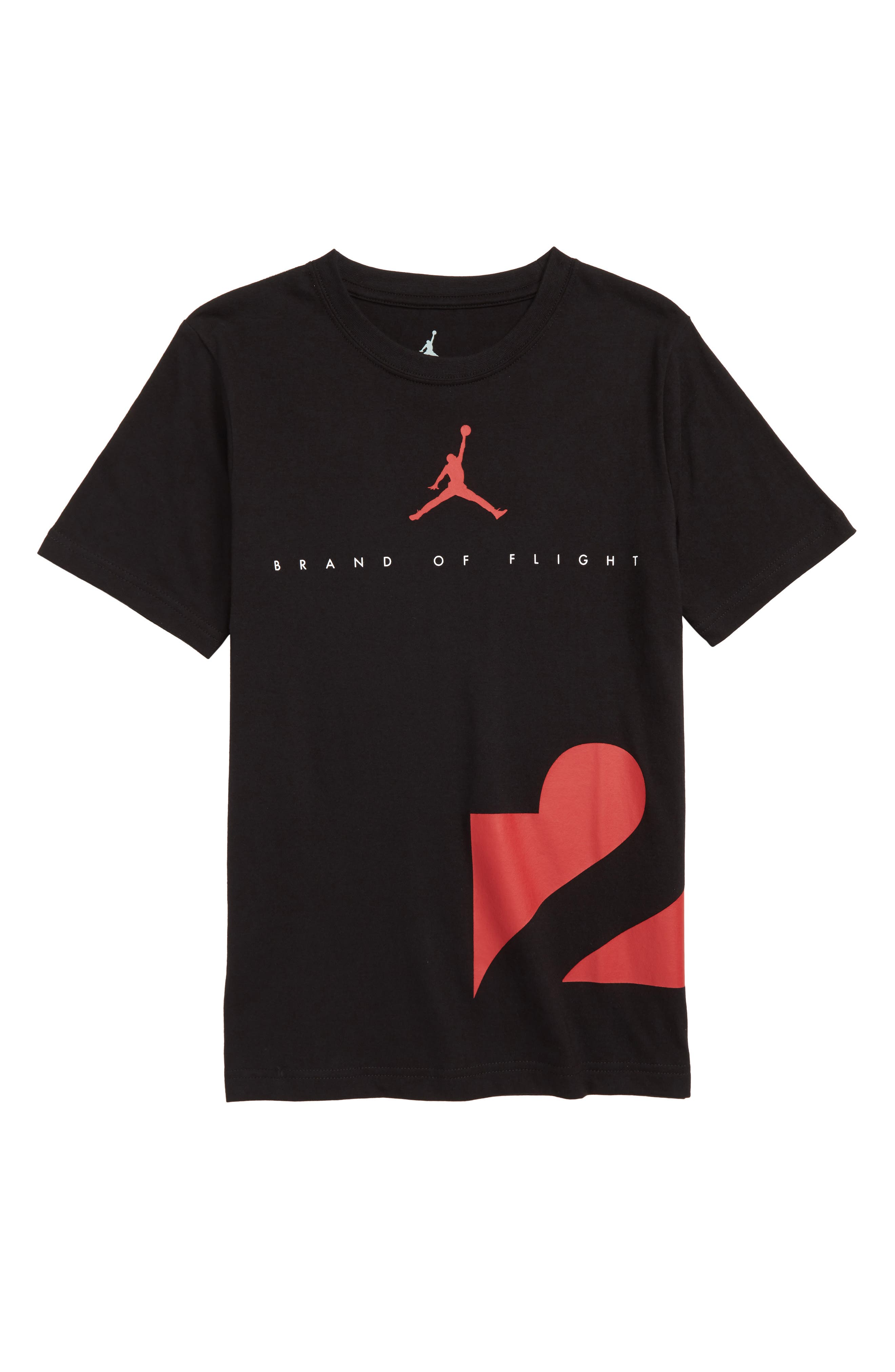 Jordan Two Three T-Shirt,                         Main,                         color, BLACK
