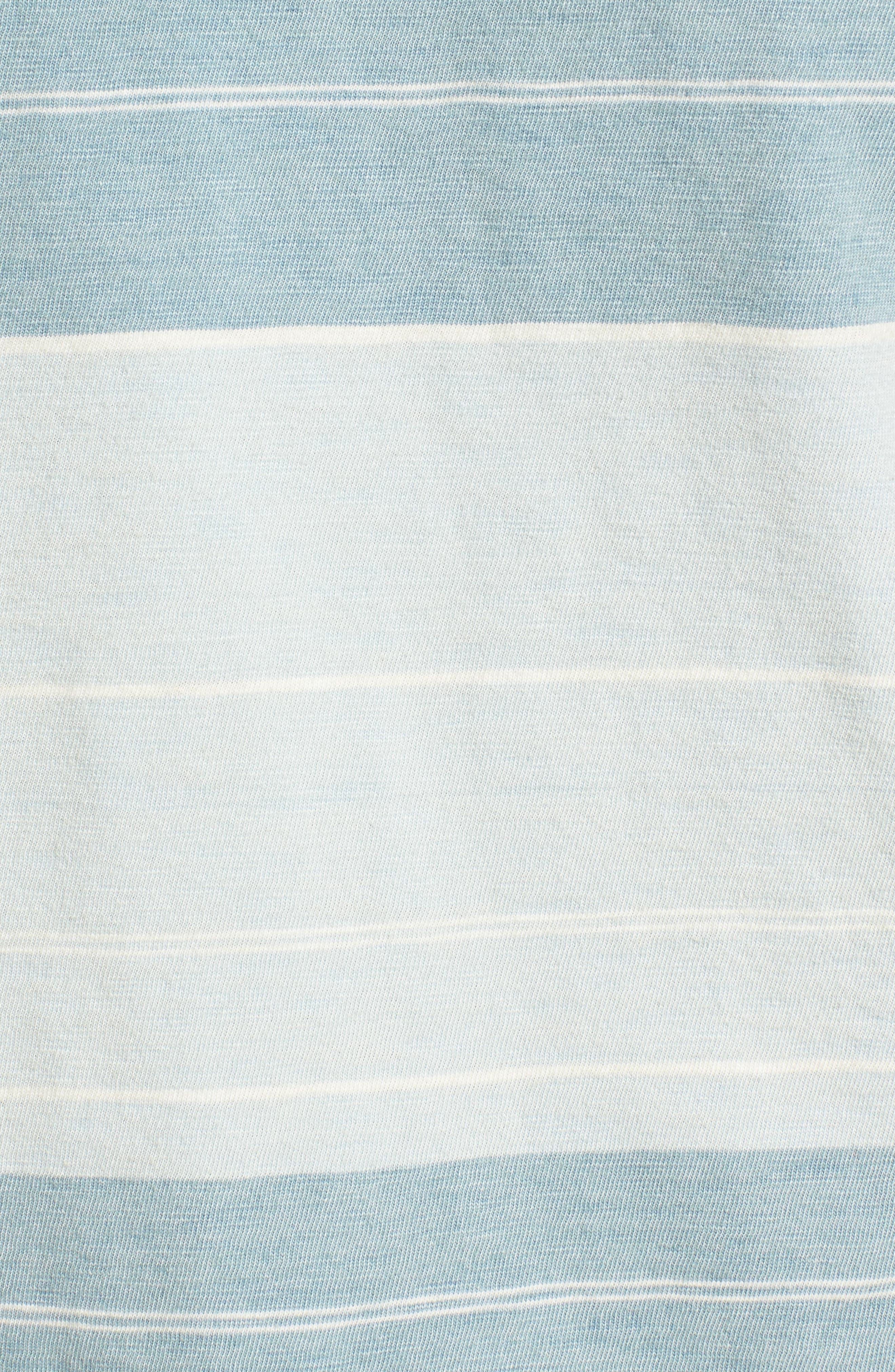 Tully Indigo Stripe T-Shirt,                             Alternate thumbnail 5, color,                             458