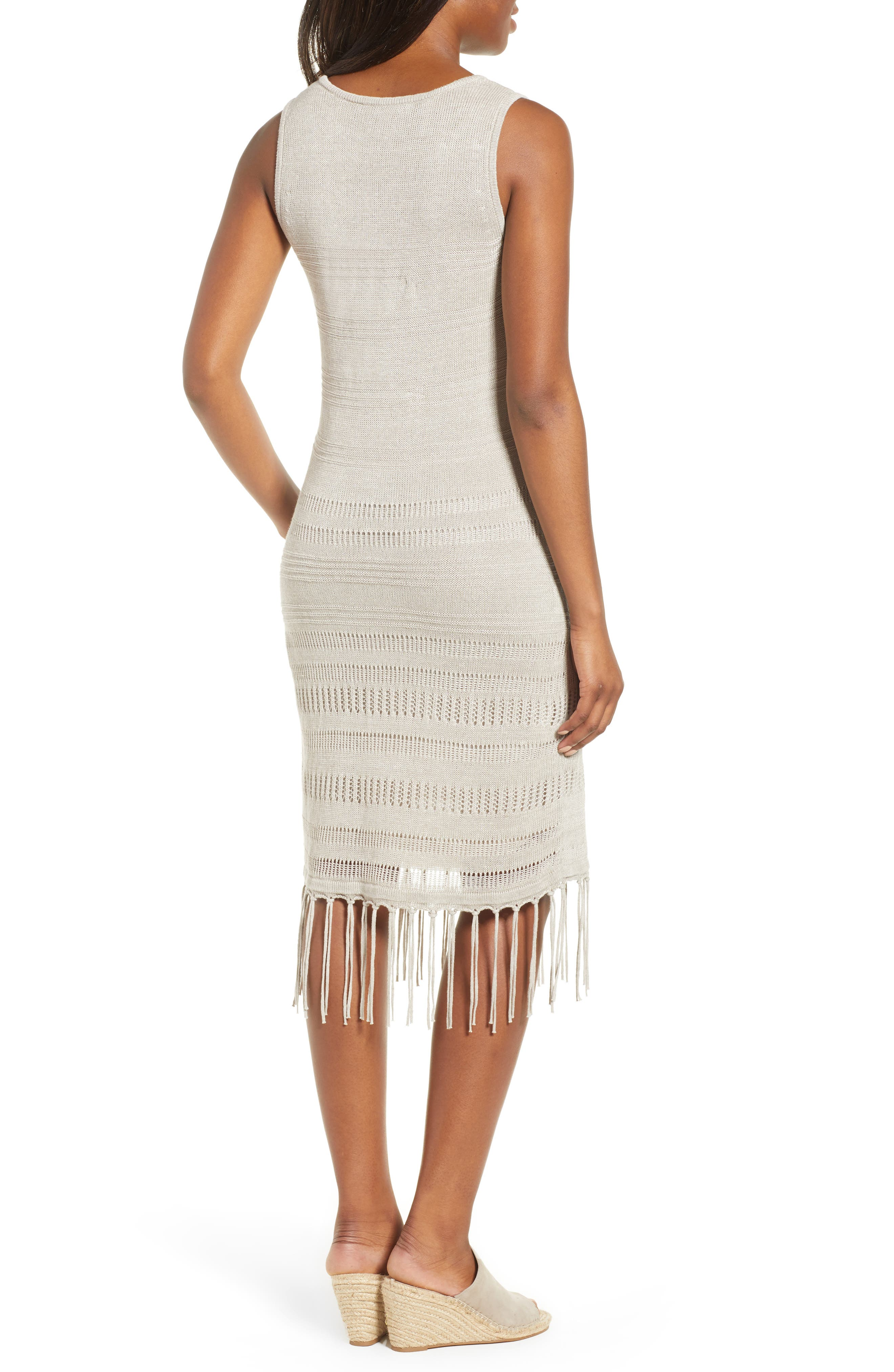 TOMMY BAHAMA,                             Pointelle Knit Tank Dress,                             Alternate thumbnail 2, color,                             NATURAL