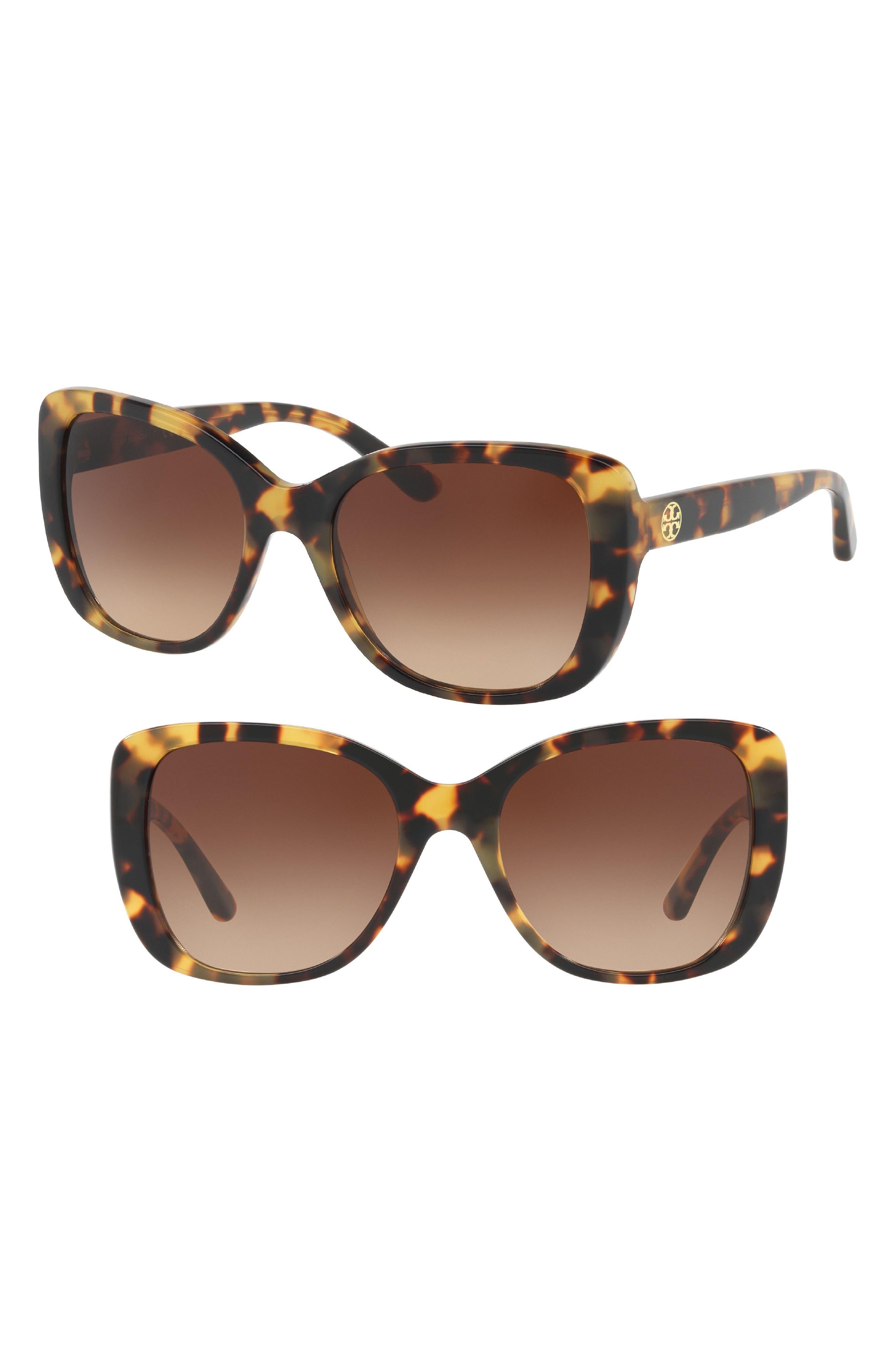 53mm Gradient Rectangle Sunglasses,                         Main,                         color, 211