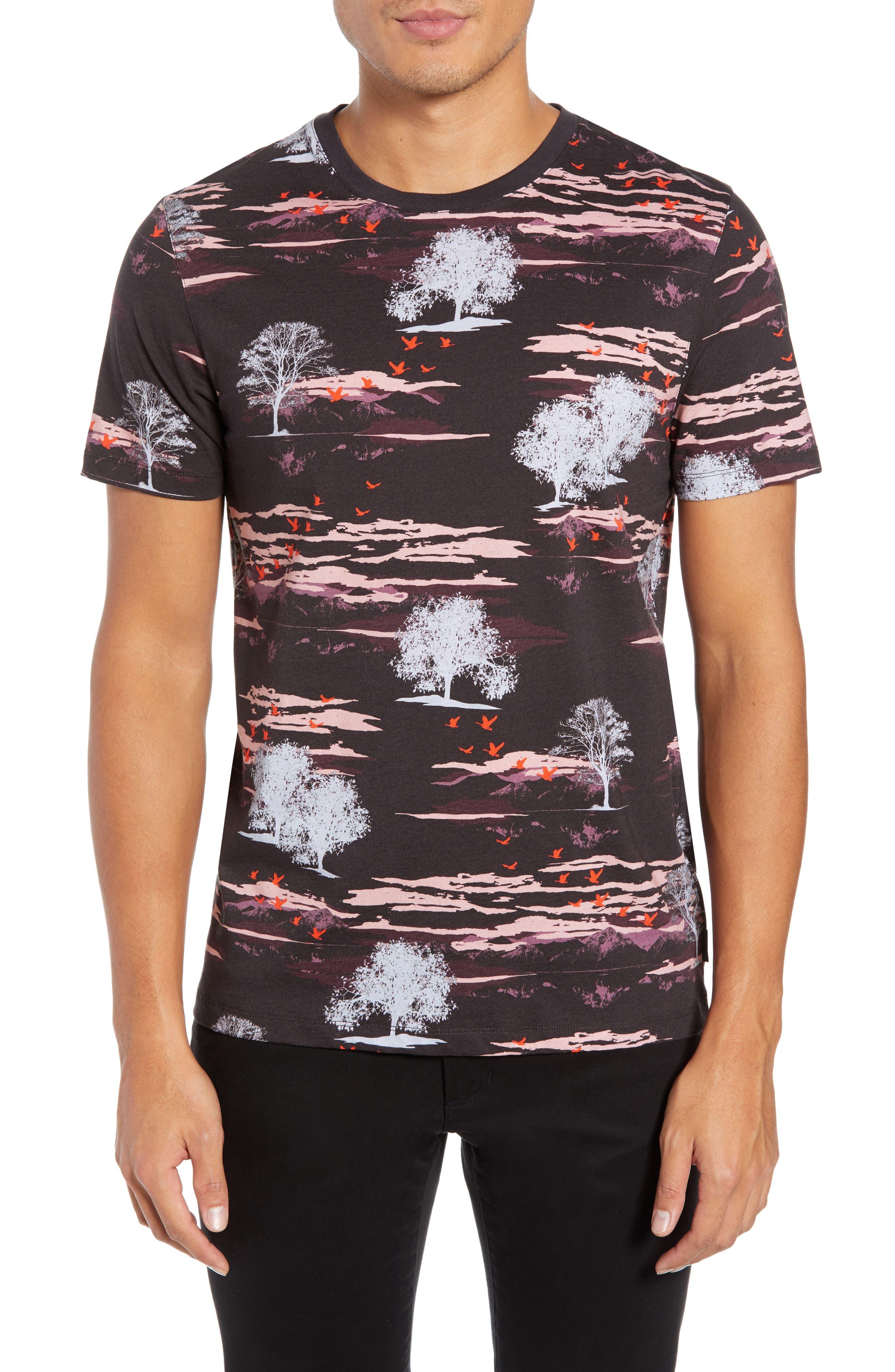 Happie Slim Fit Print T-Shirt,                             Main thumbnail 1, color,                             601