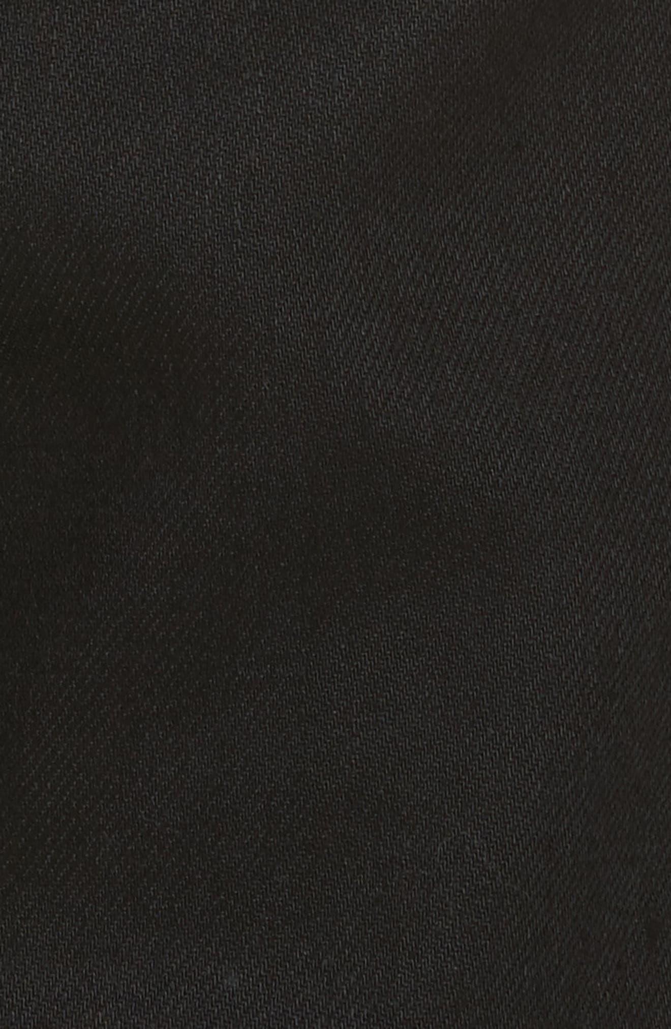 Petit New Standard Stretch Skinny Fit Jeans,                             Alternate thumbnail 5, color,                             BLACK
