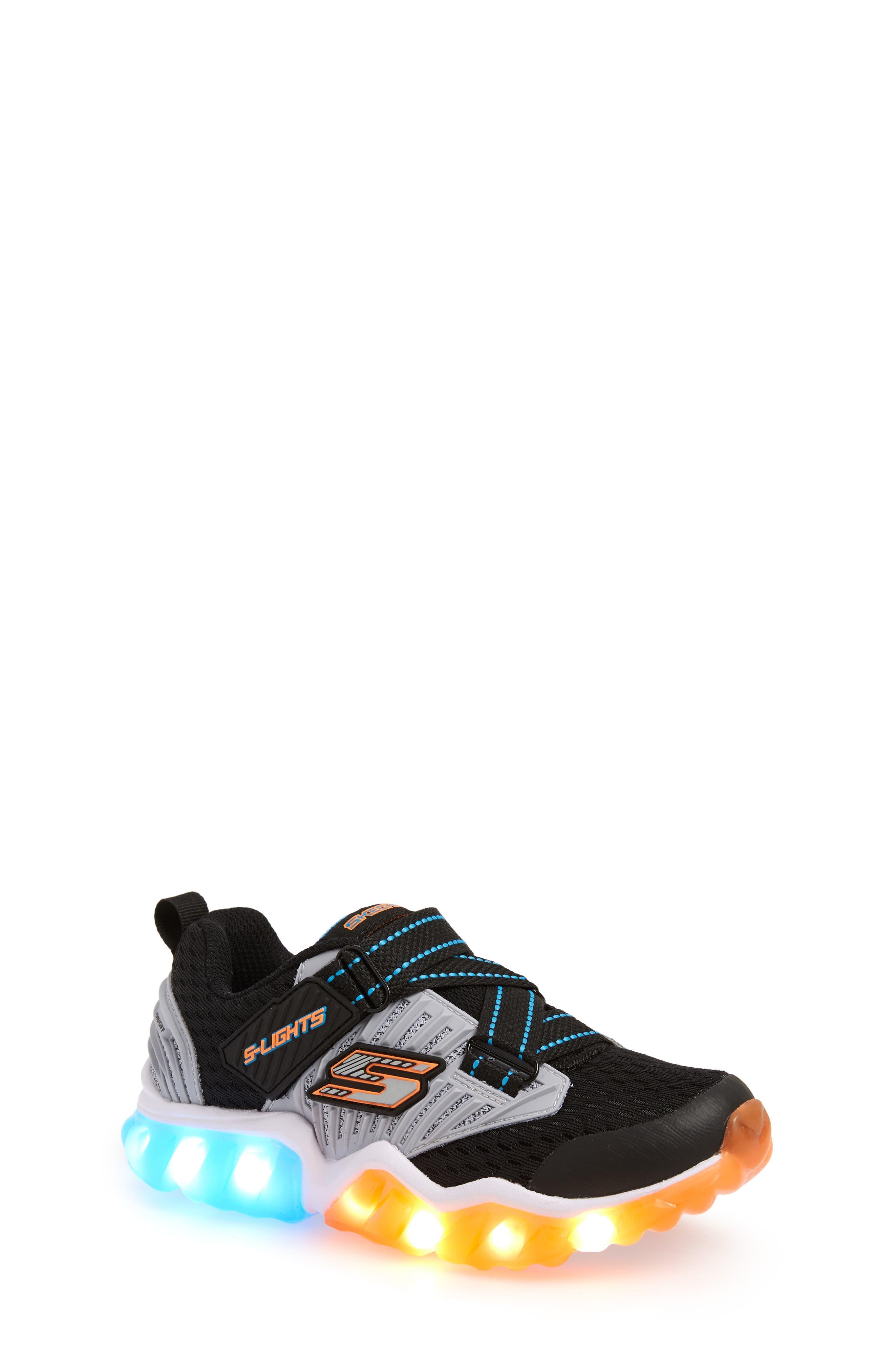 Rapid Flash Light-Up Sneaker,                             Alternate thumbnail 7, color,                             001