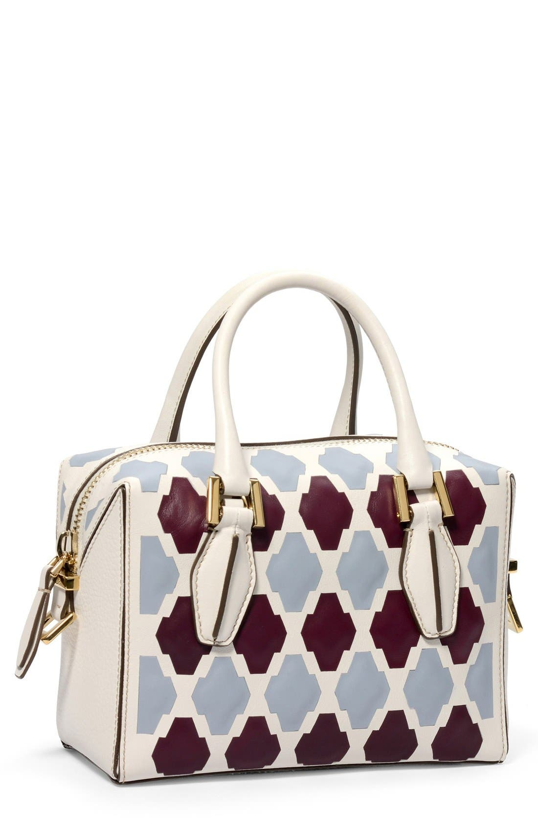 TOD'S,                             'Mini D-Cube - Bauletto' Bowler Bag,                             Main thumbnail 1, color,                             490